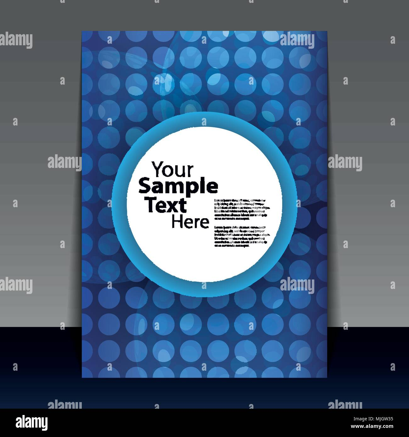 blue flyer or cover design with transparent spotted perforated