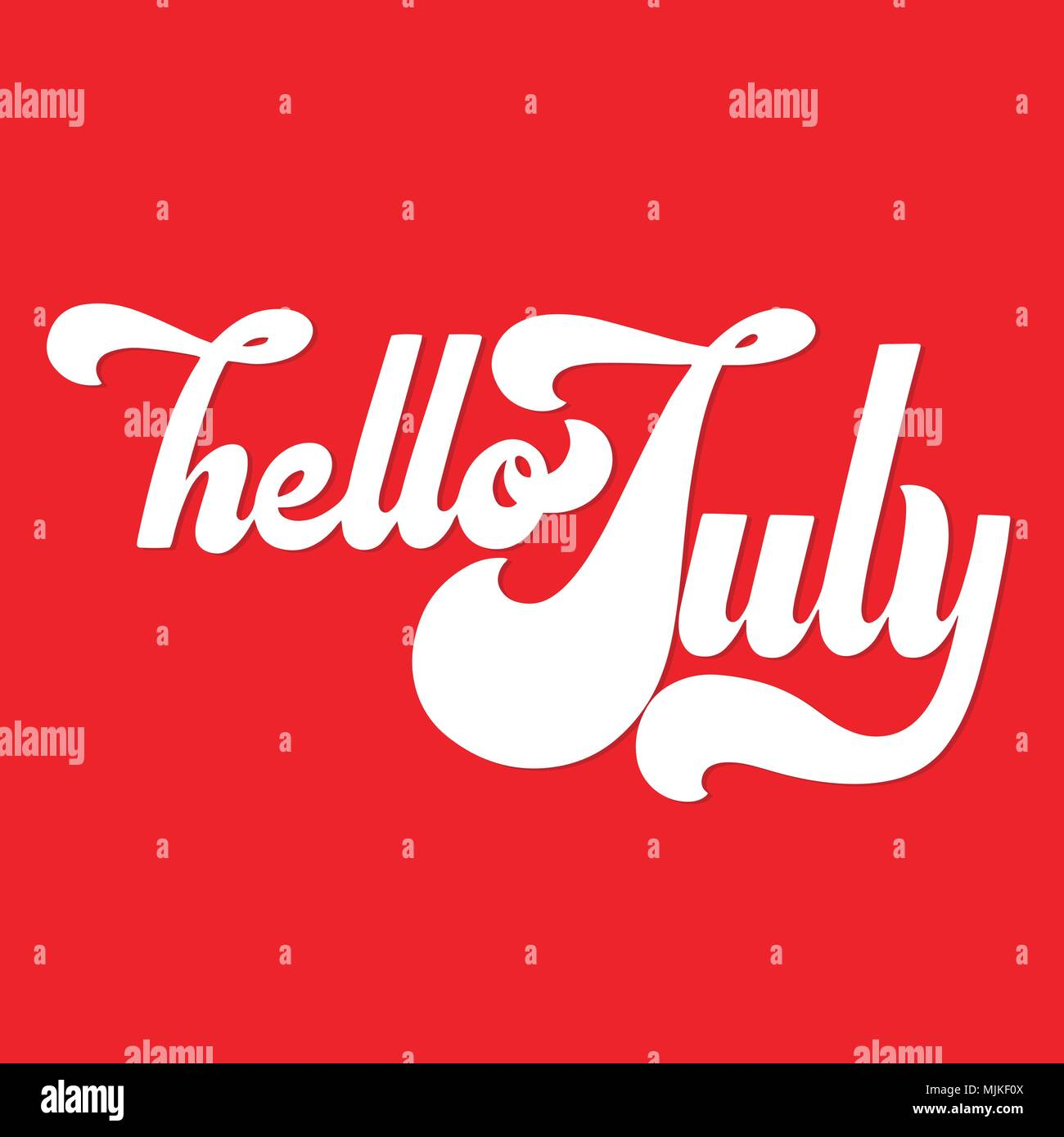 Hello July Lettering Elements For Invitations Posters Greeting