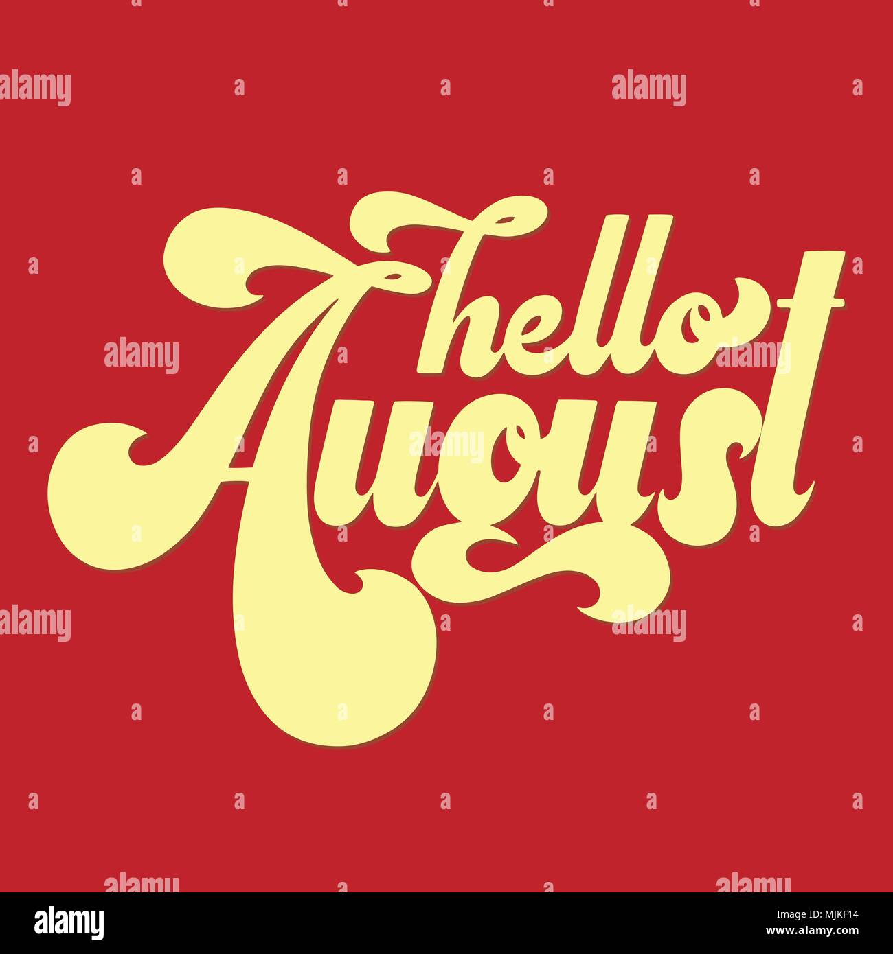 Hello August Lettering Elements For Invitations Posters Greeting