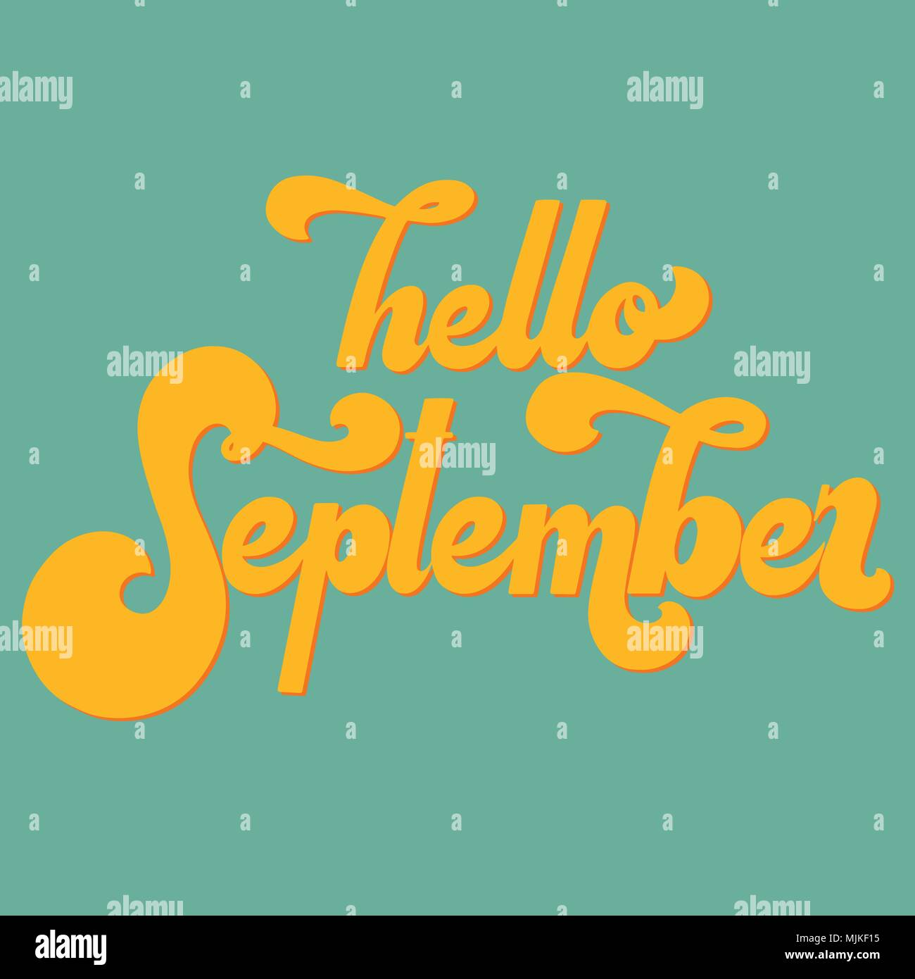 Hello september lettering elements for invitations posters hello september lettering elements for invitations posters greeting cards t shirt design seasons greetings 70s typography retro style m4hsunfo