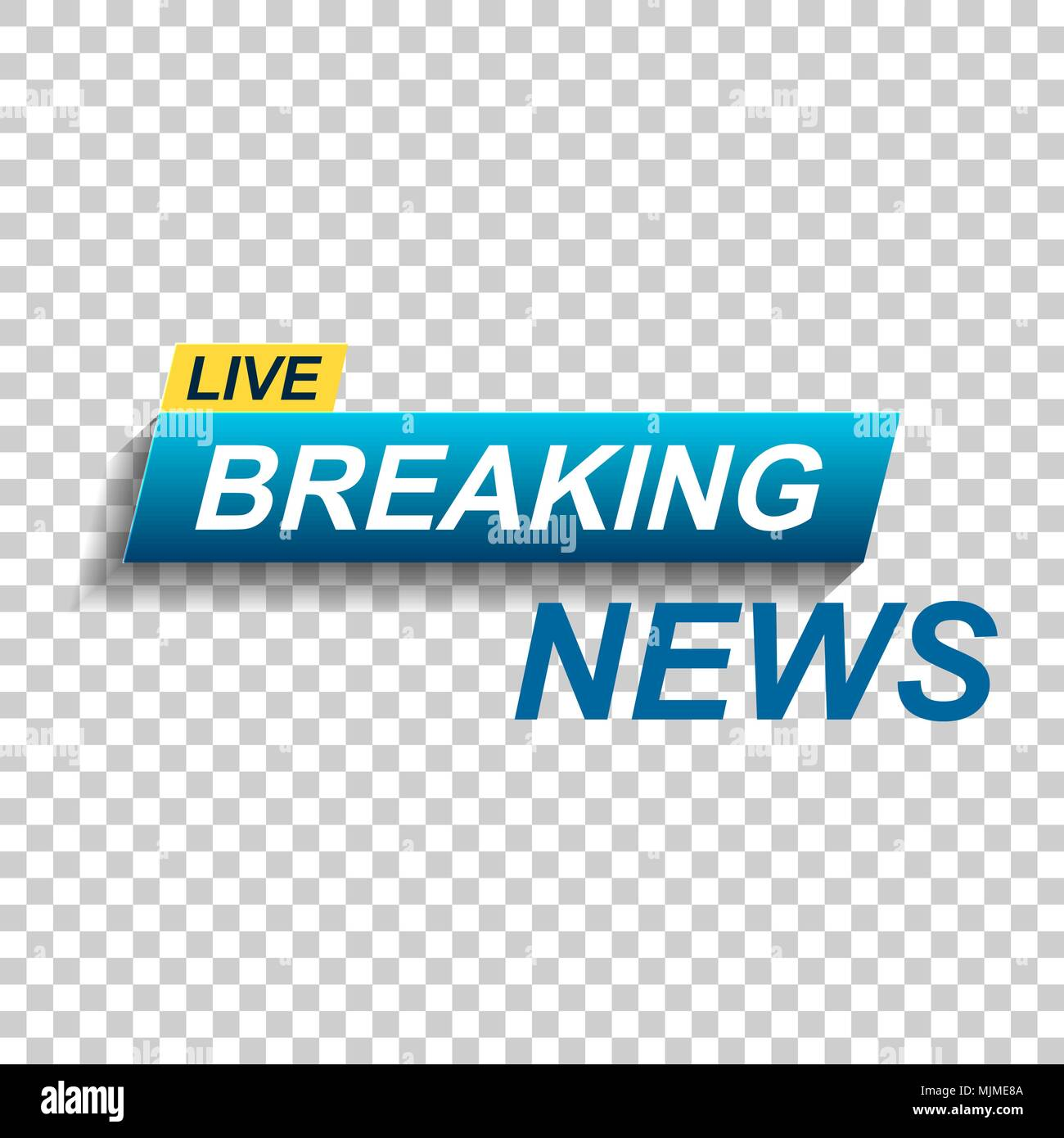 Breaking News Vector Icon Flat Illustration Communication Business Concept Pictogram On Isolated Transparent Background