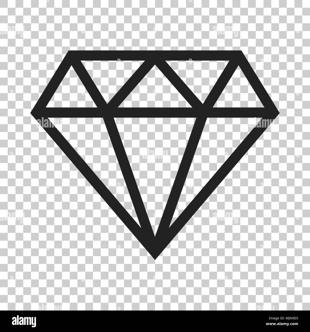 diamond jewel gem vector icon in flat style diamond gemstone
