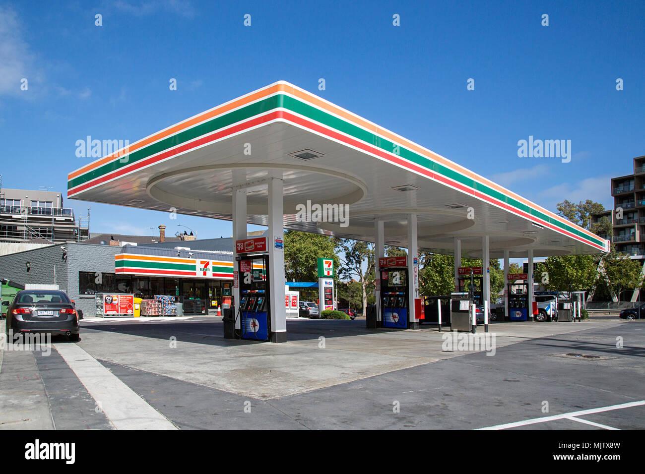 Mobil Gas Card >> Self Service Petrol Station Stock Photos & Self Service ...