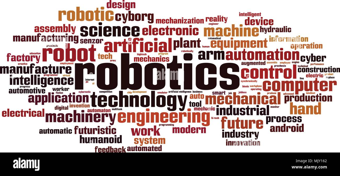 Robotics Word Cloud Concept Vector Illustration Stock Vector Art