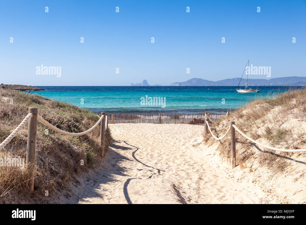 Formentera Platja de Ses Illetes Stock Photo