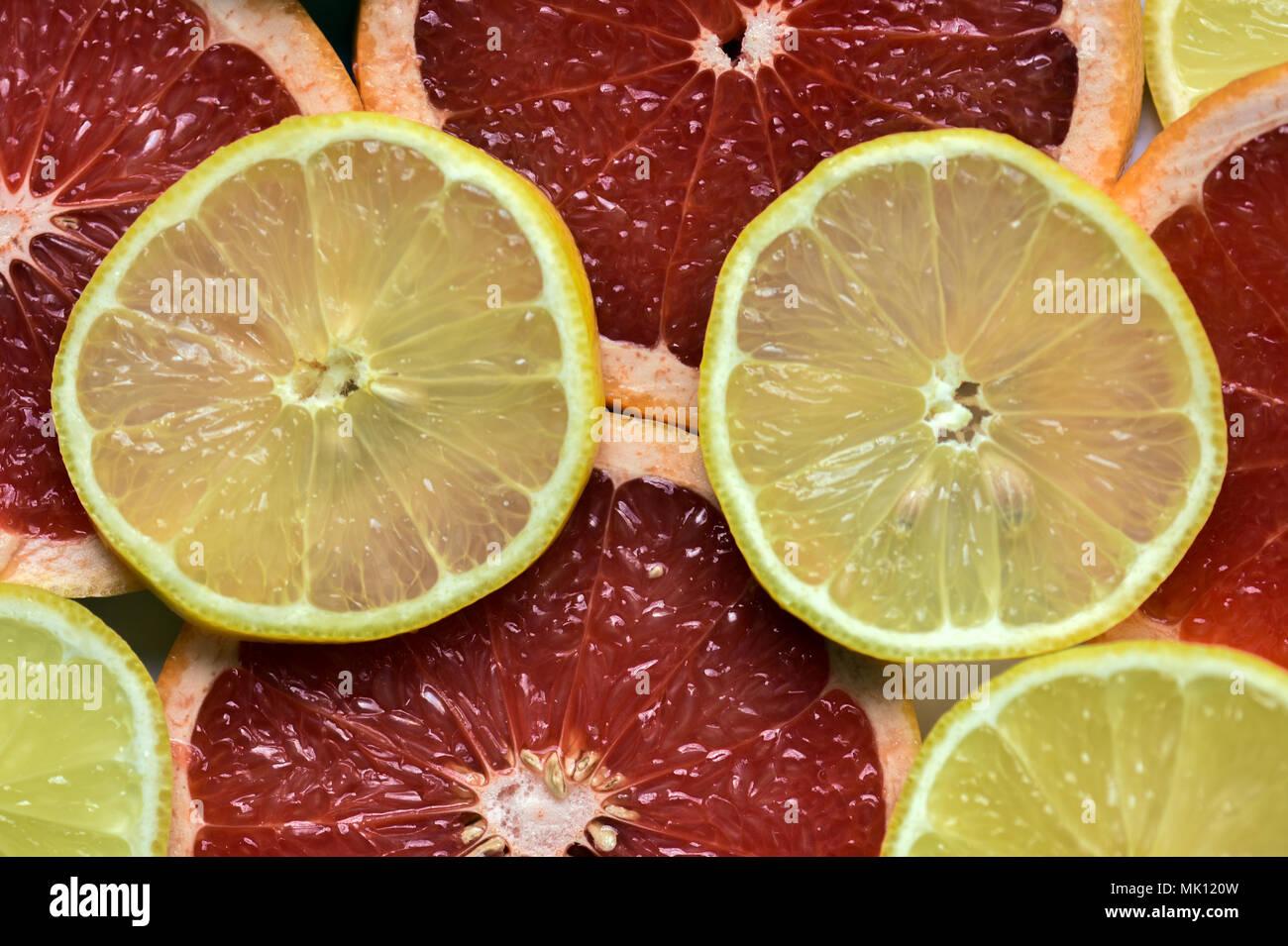 Citrus: Grapefruit and Lemons - Stock Image