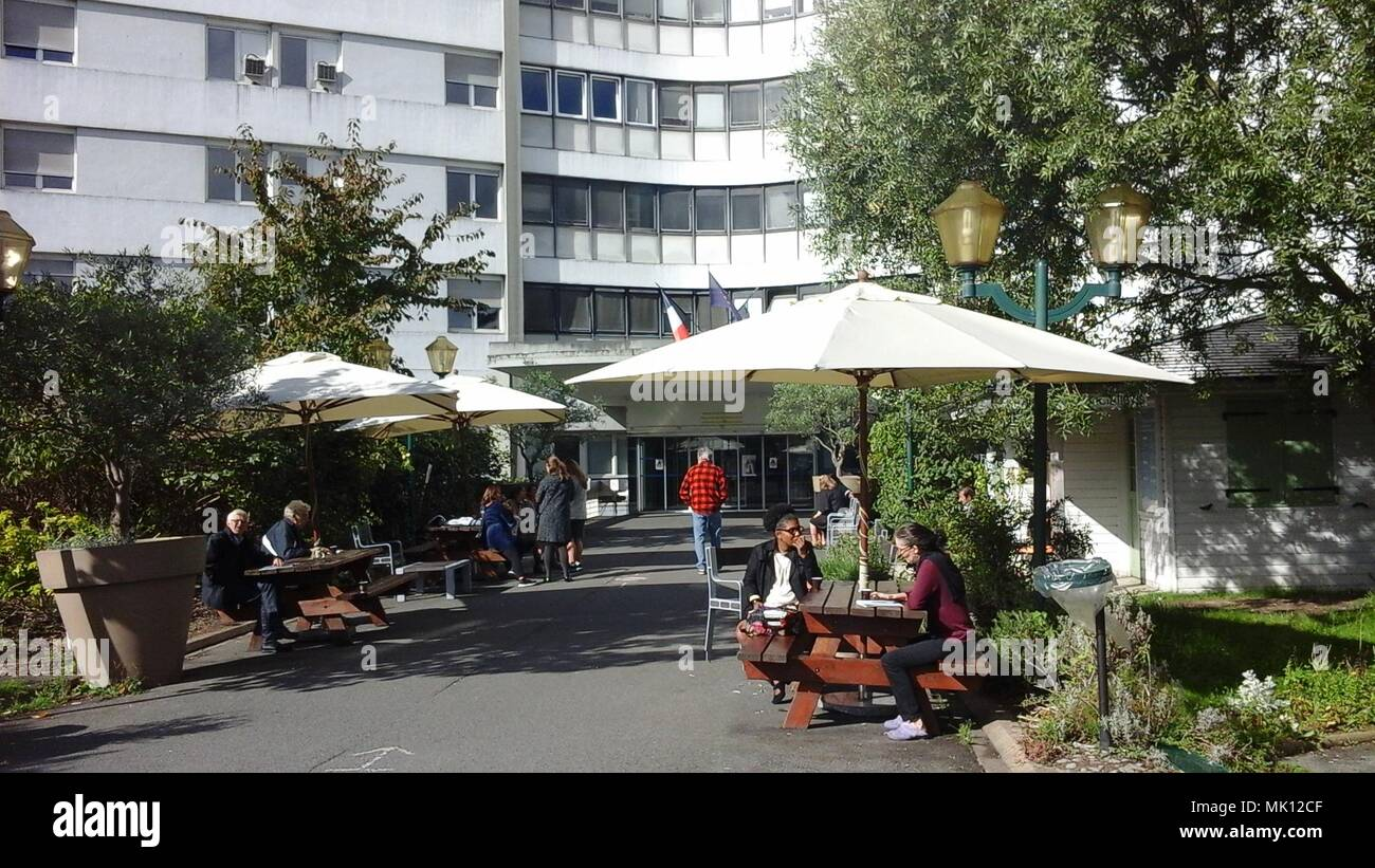Colombes, France, Hospital Louis Mourier, Front - Stock Image