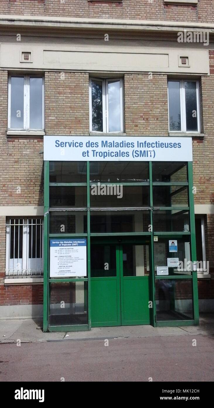 Paris, France, Front Hospital Bichat, SMIT, Maladie Infectieuse, Front - Stock Image