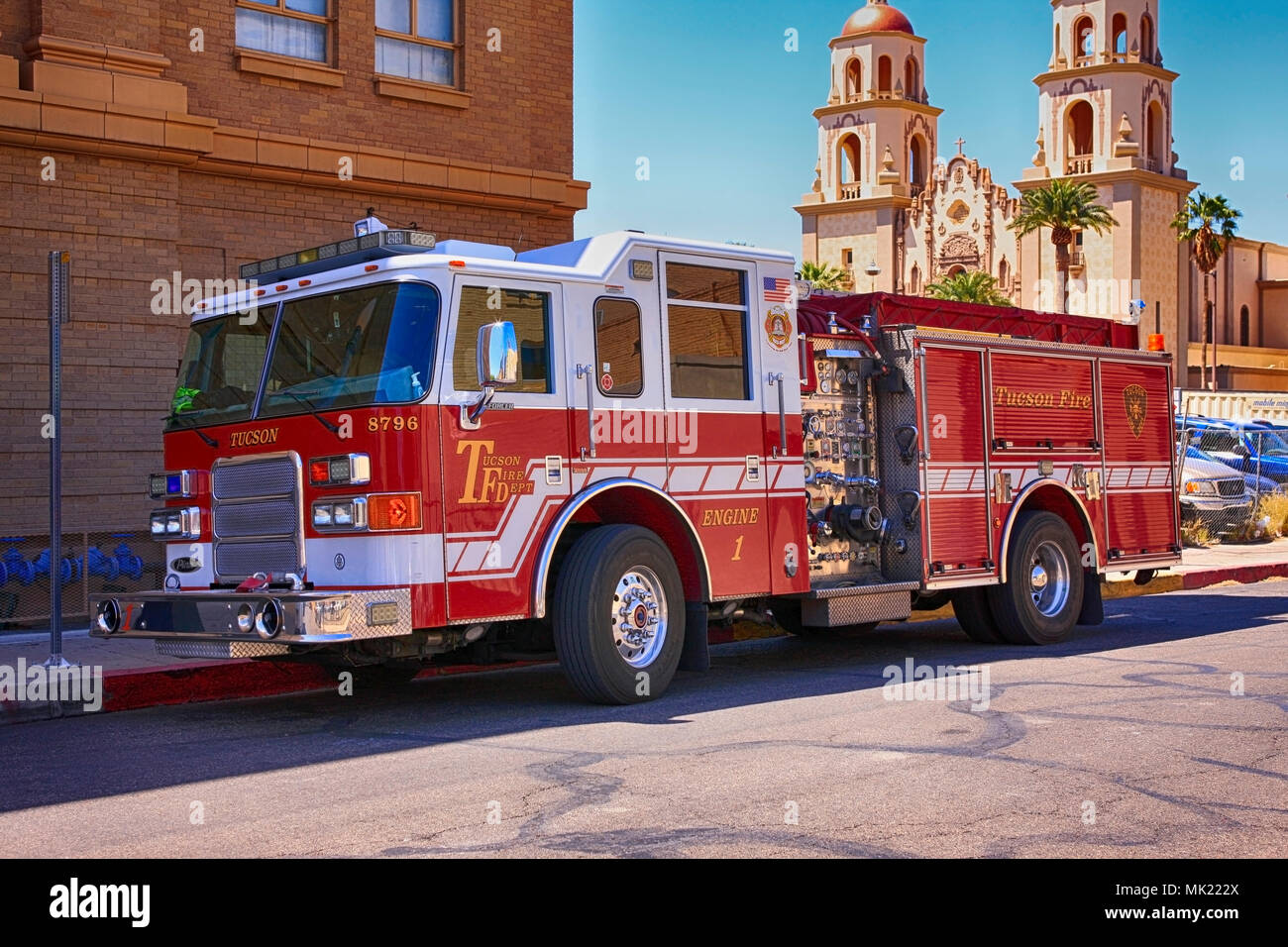 City of tucson fire dept red truck parked in downtown tucson az city of tucson fire dept red truck parked in downtown tucson az publicscrutiny Gallery
