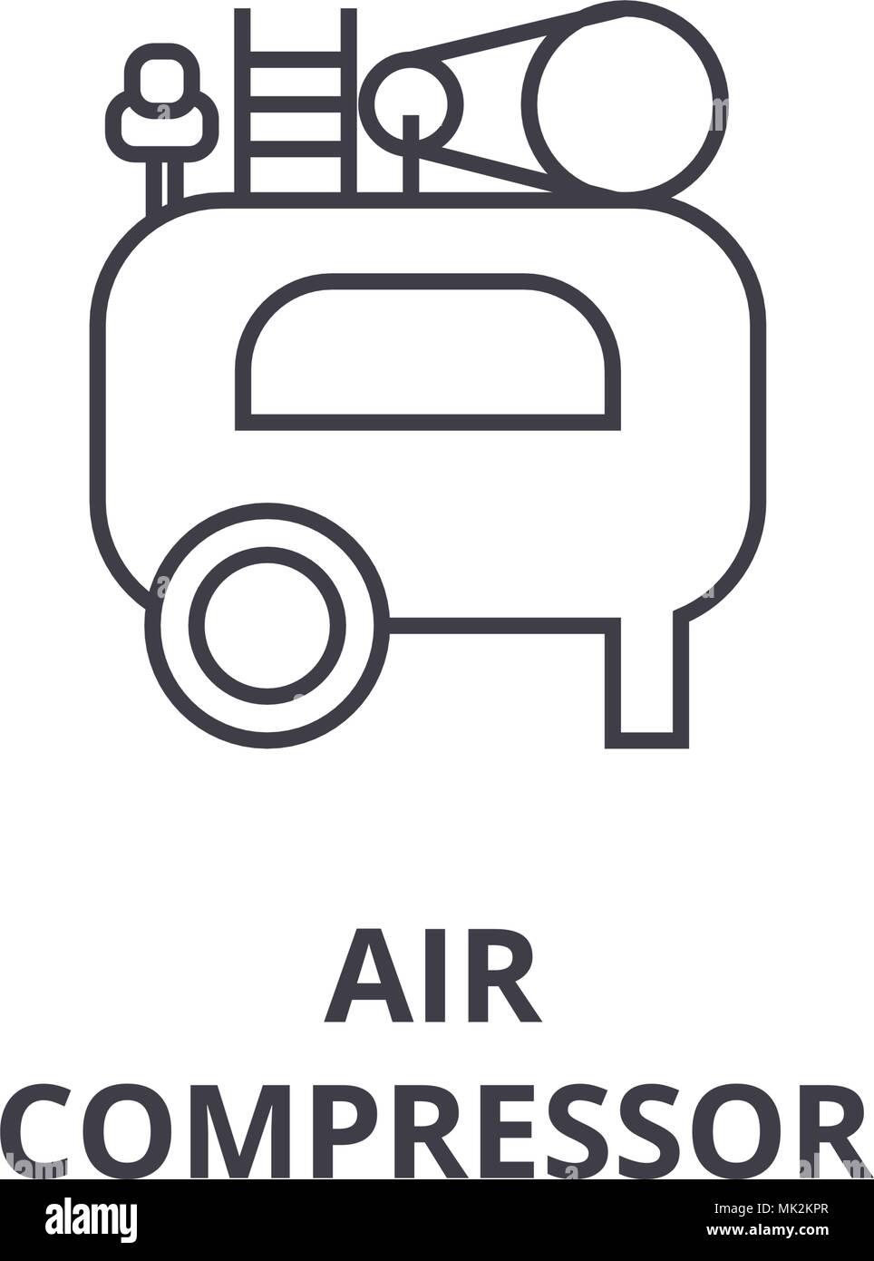 Air Compressor Icon Sign Vector Stock Vector Art Illustration