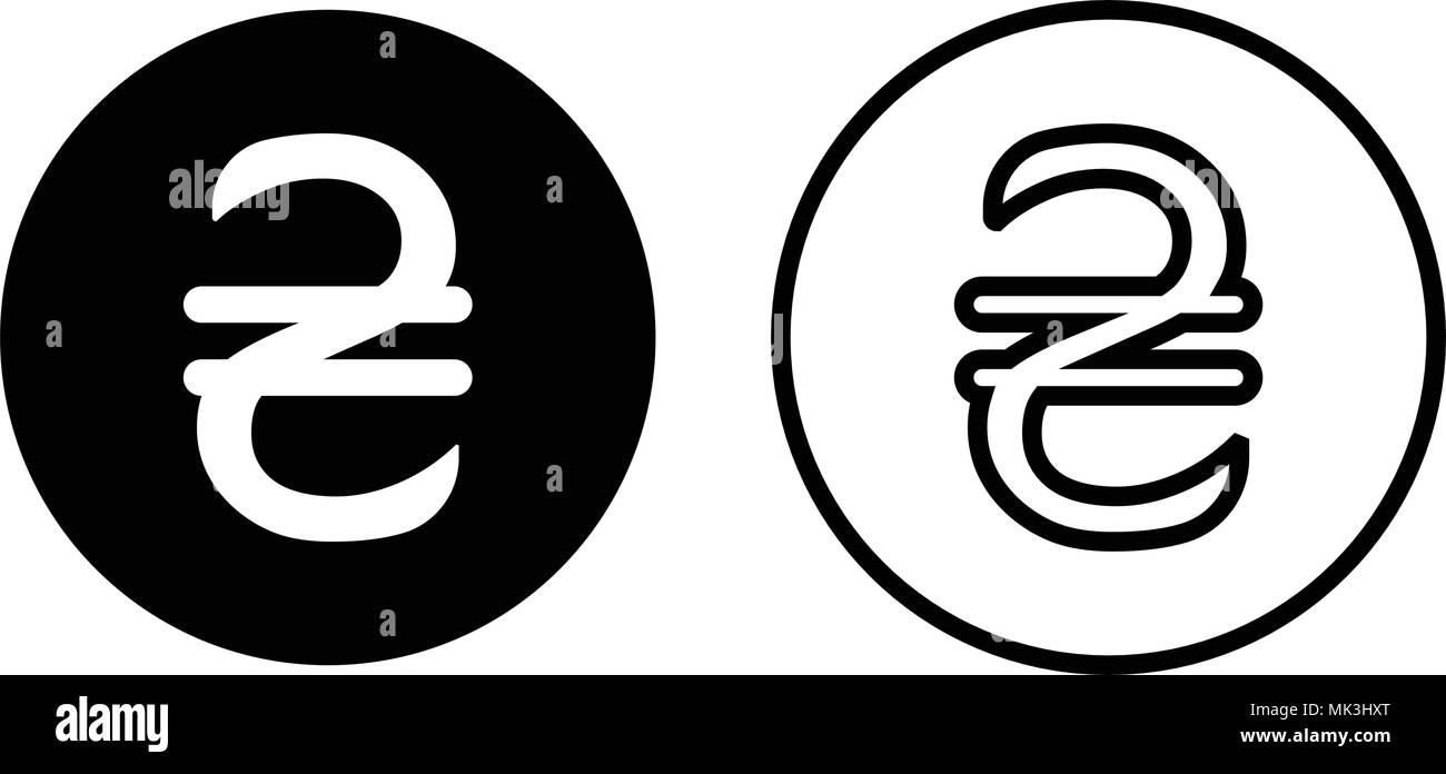 Ukraine Hryvnia Currency Symbol Icon Isolated On White Background
