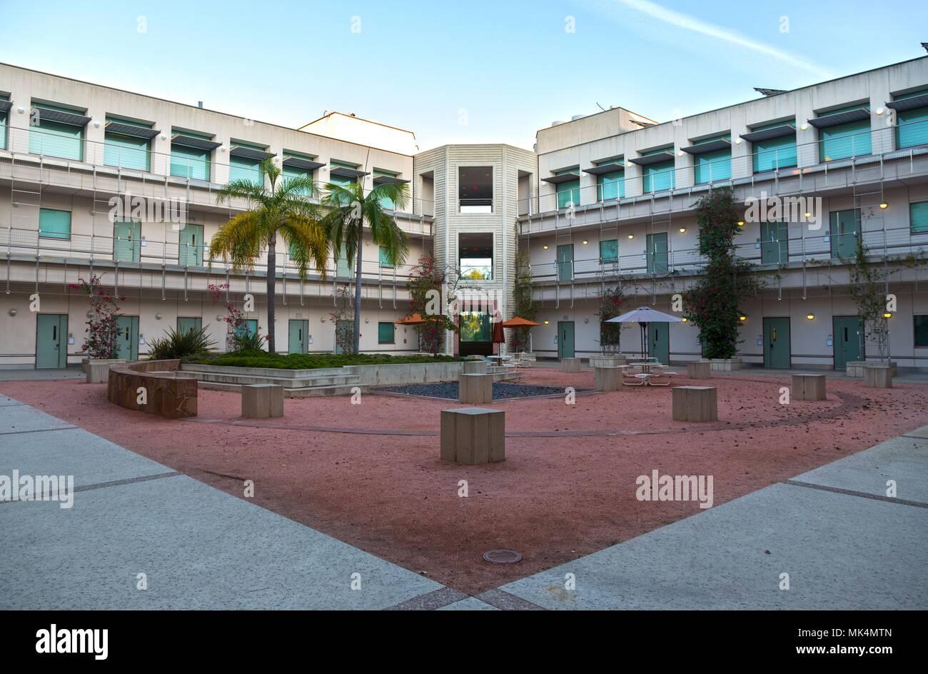Courtyard inside Earl Warren Undergraduate College of Engineering on