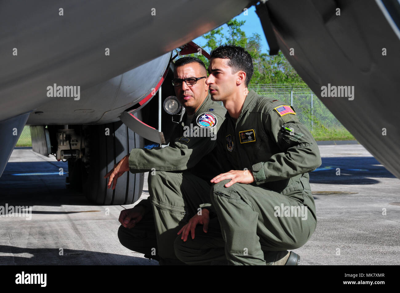 2nd Lt. Isaias Rivera and the 198th Squadron Commander, Lt. Col. Evaristo
