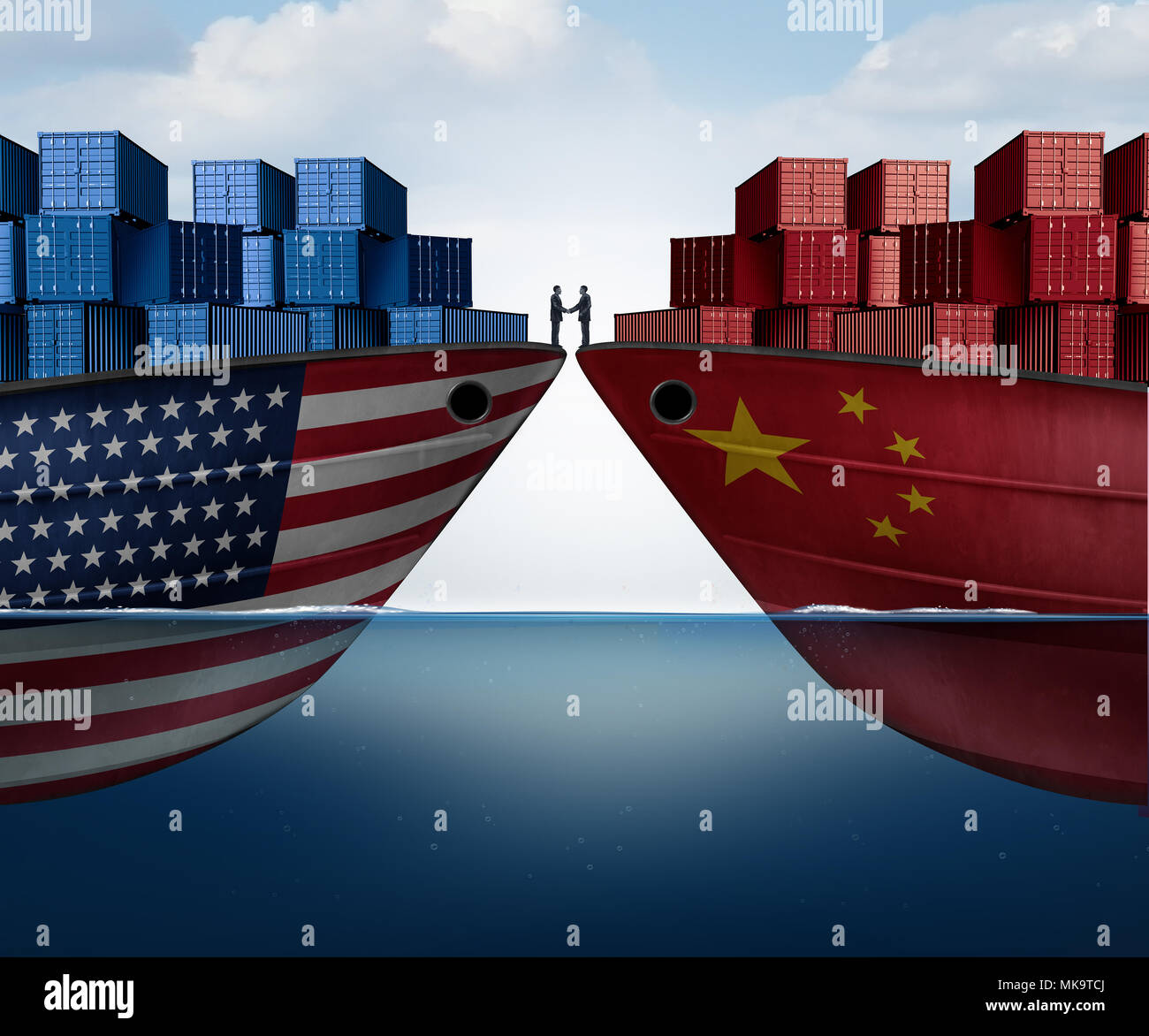 China United States Trade Agreement And American Tariffs As Two