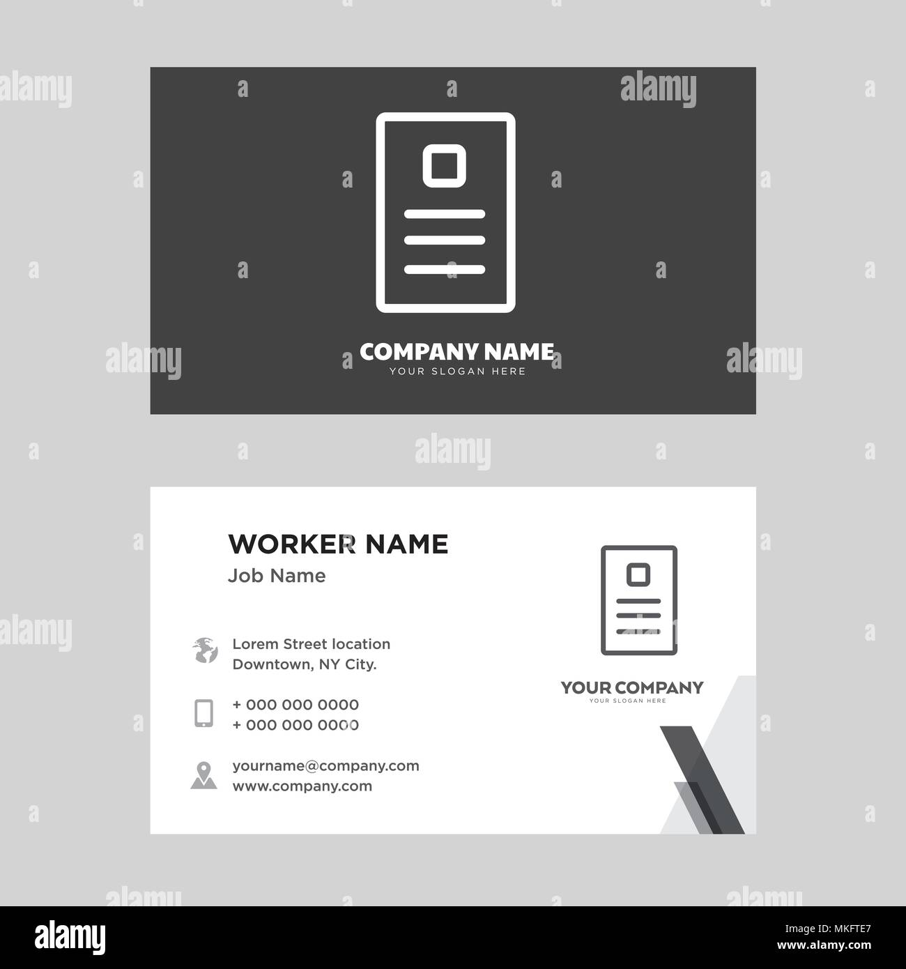 newspaper business card design template visiting for your company modern horizontal identity card vector