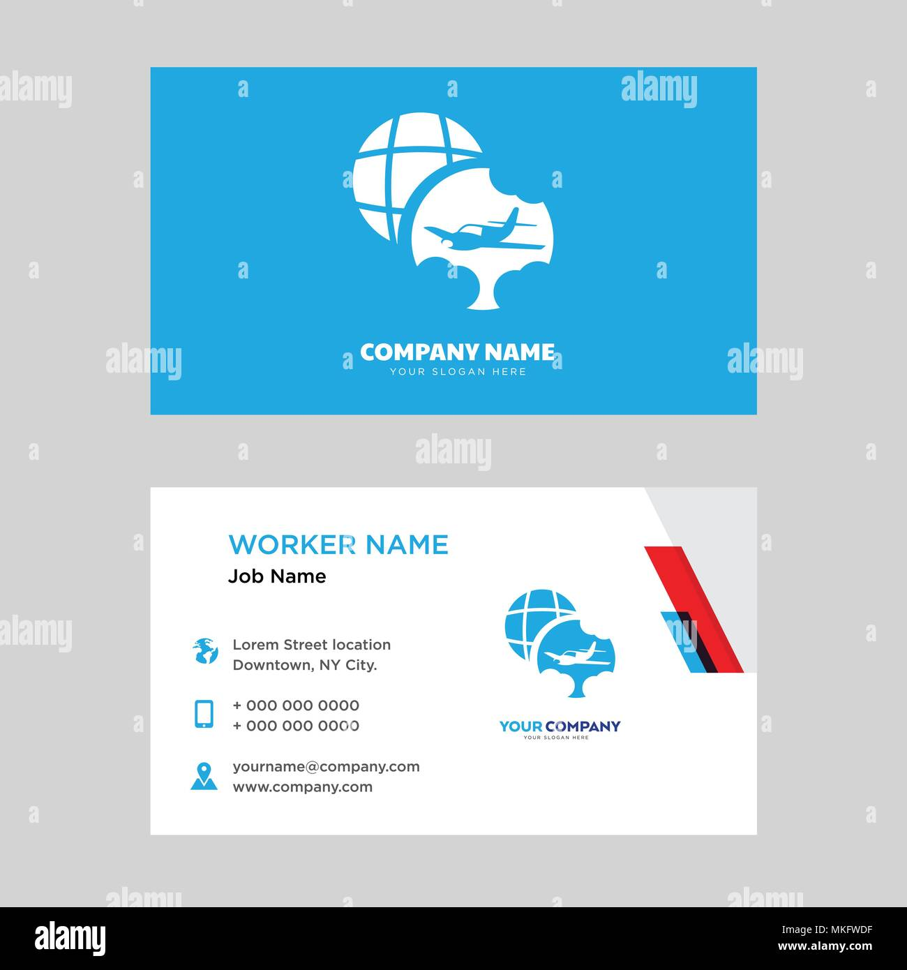 Travel business card design template visiting for your company travel business card design template visiting for your company modern horizontal identity card vector fbccfo Gallery