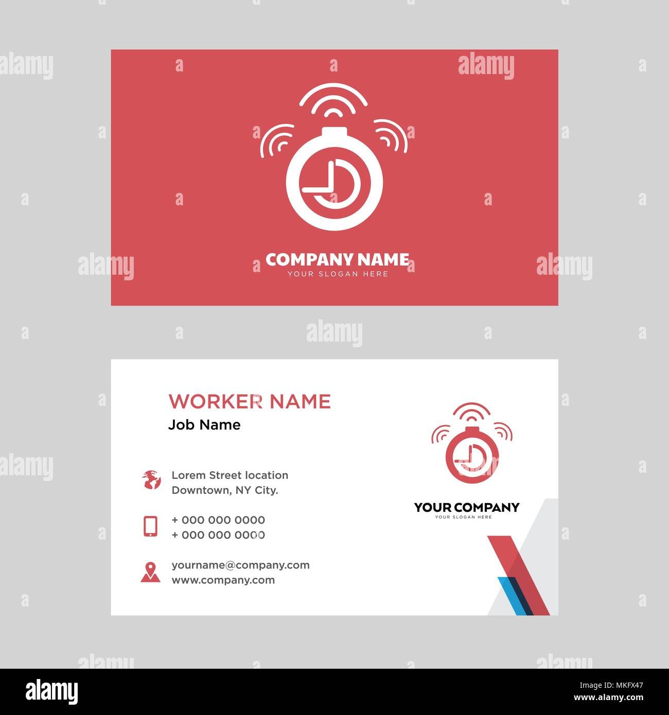 timer business card design template visiting for your company