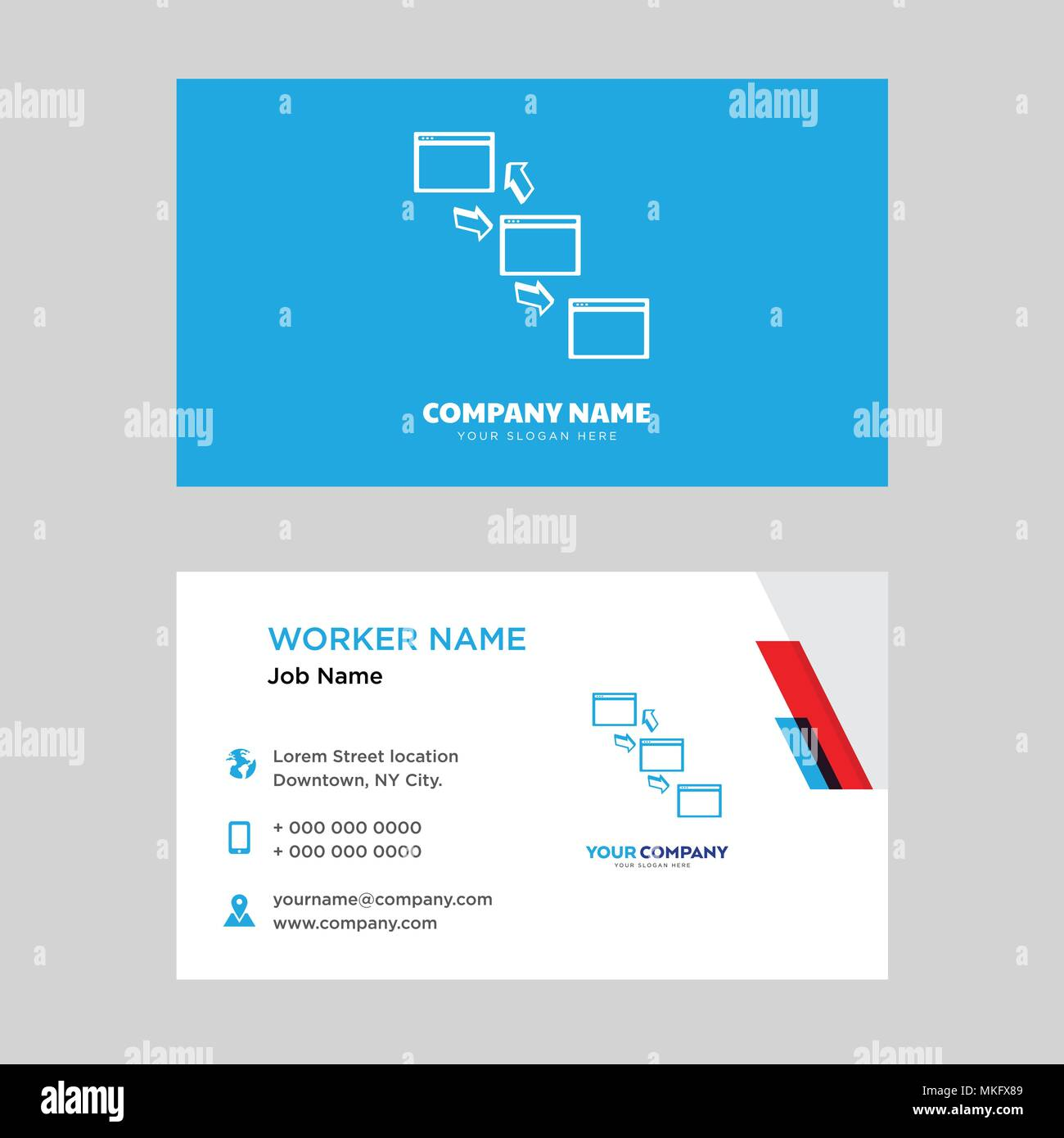 Networking business card design template visiting for your company networking business card design template visiting for your company modern horizontal identity card vector wajeb Choice Image