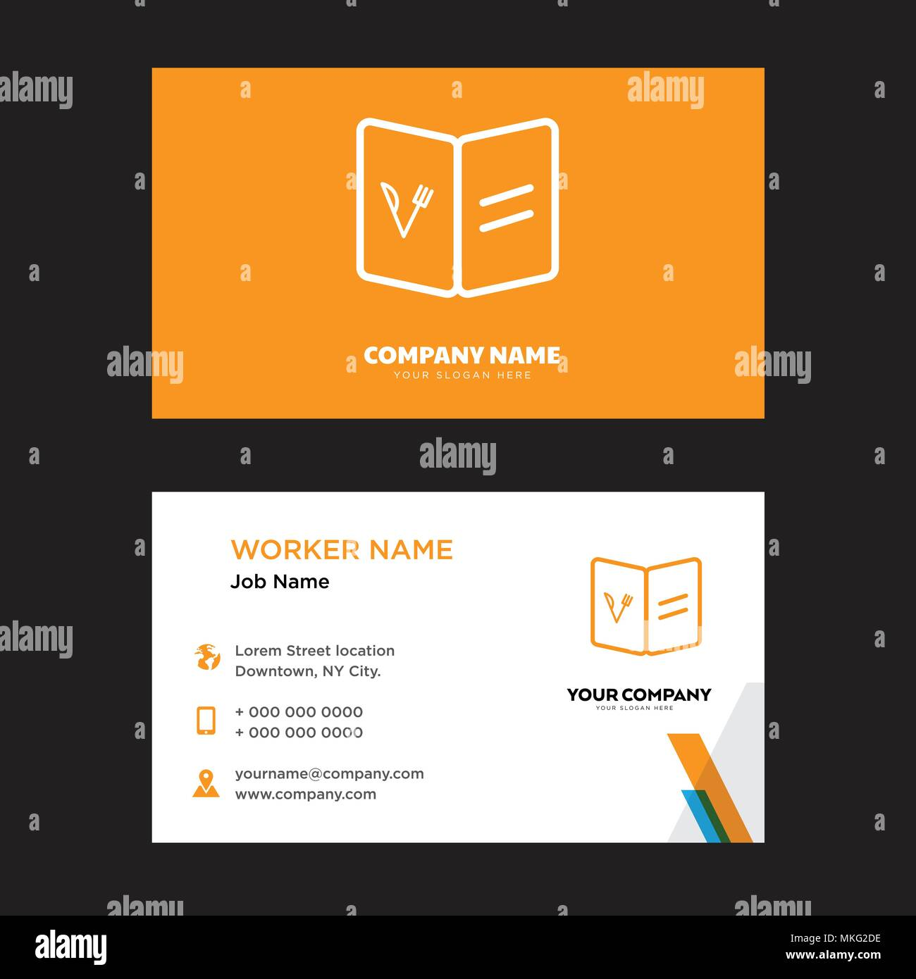recipe business card design template visiting for your company