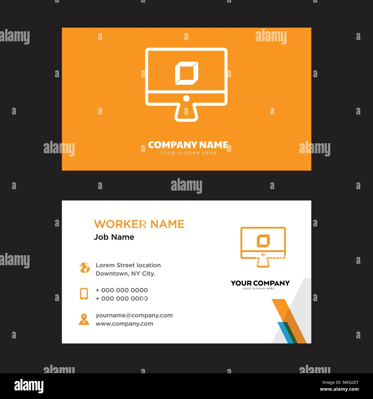 3d business card design template visiting for your company modern 3d business card design template visiting for your company modern horizontal identity card vector flashek Choice Image