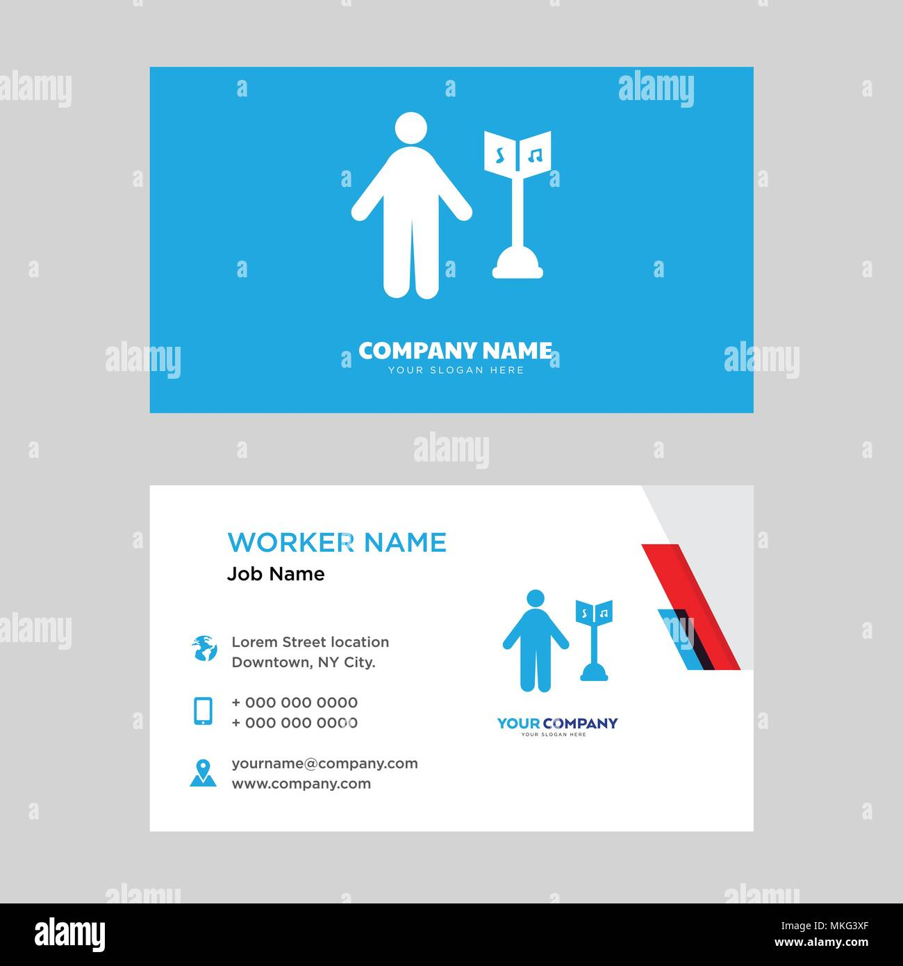 Musician business card design template visiting for your company musician business card design template visiting for your company modern horizontal identity card vector colourmoves