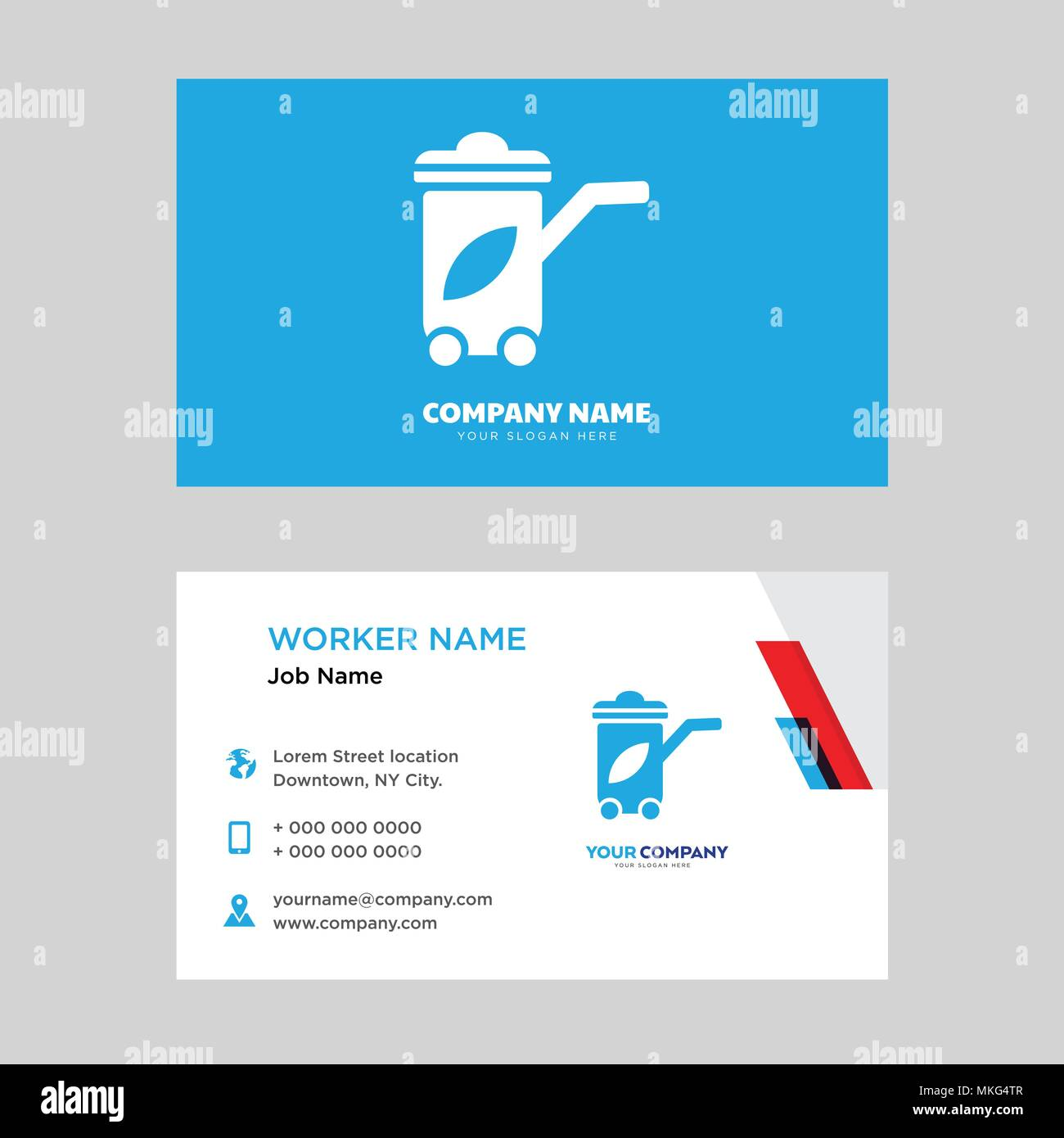Recycling Bin Business Card Design Template Visiting For Your