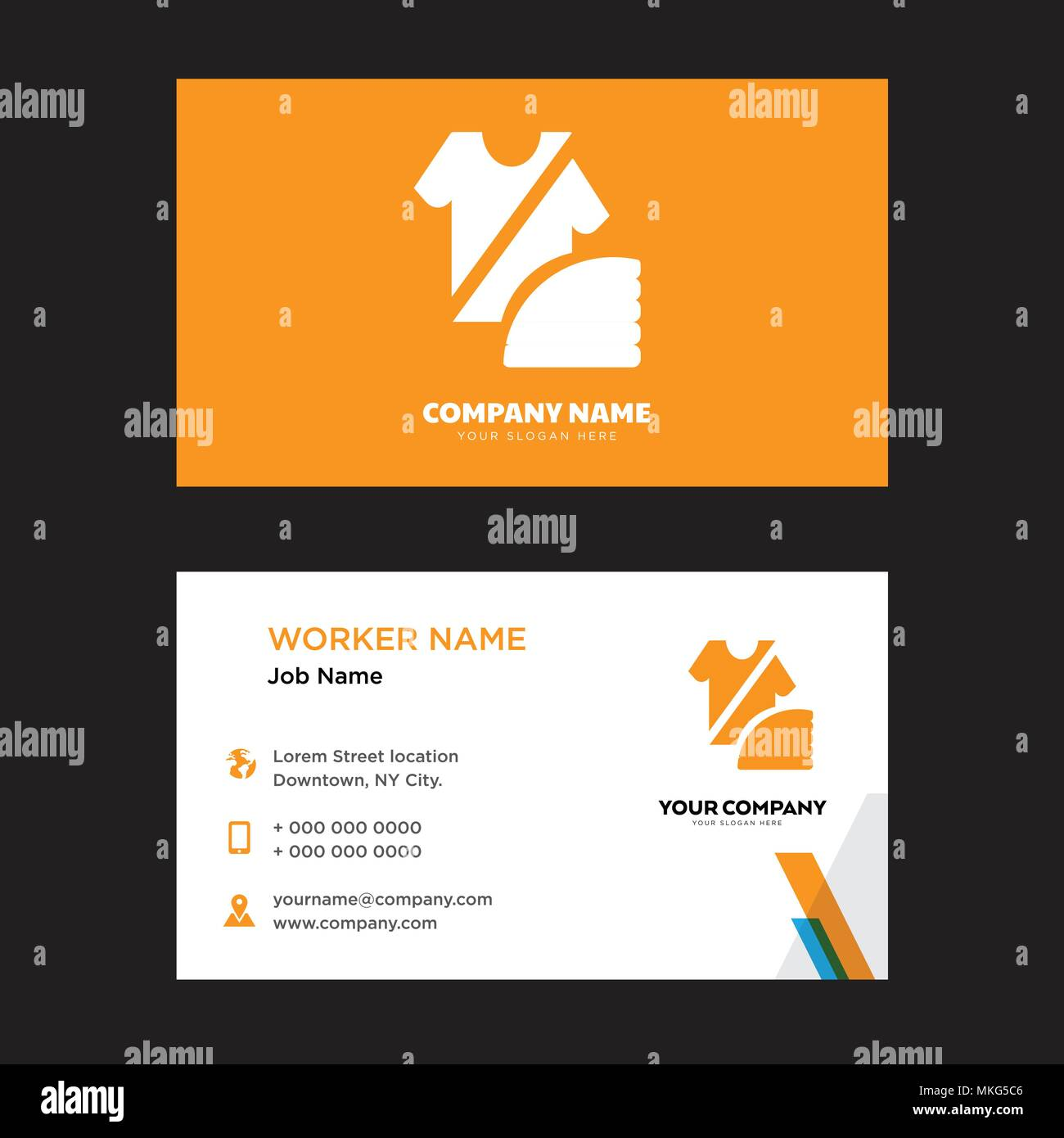 Fashion business card design template visiting for your company fashion business card design template visiting for your company modern horizontal identity card vector accmission Image collections