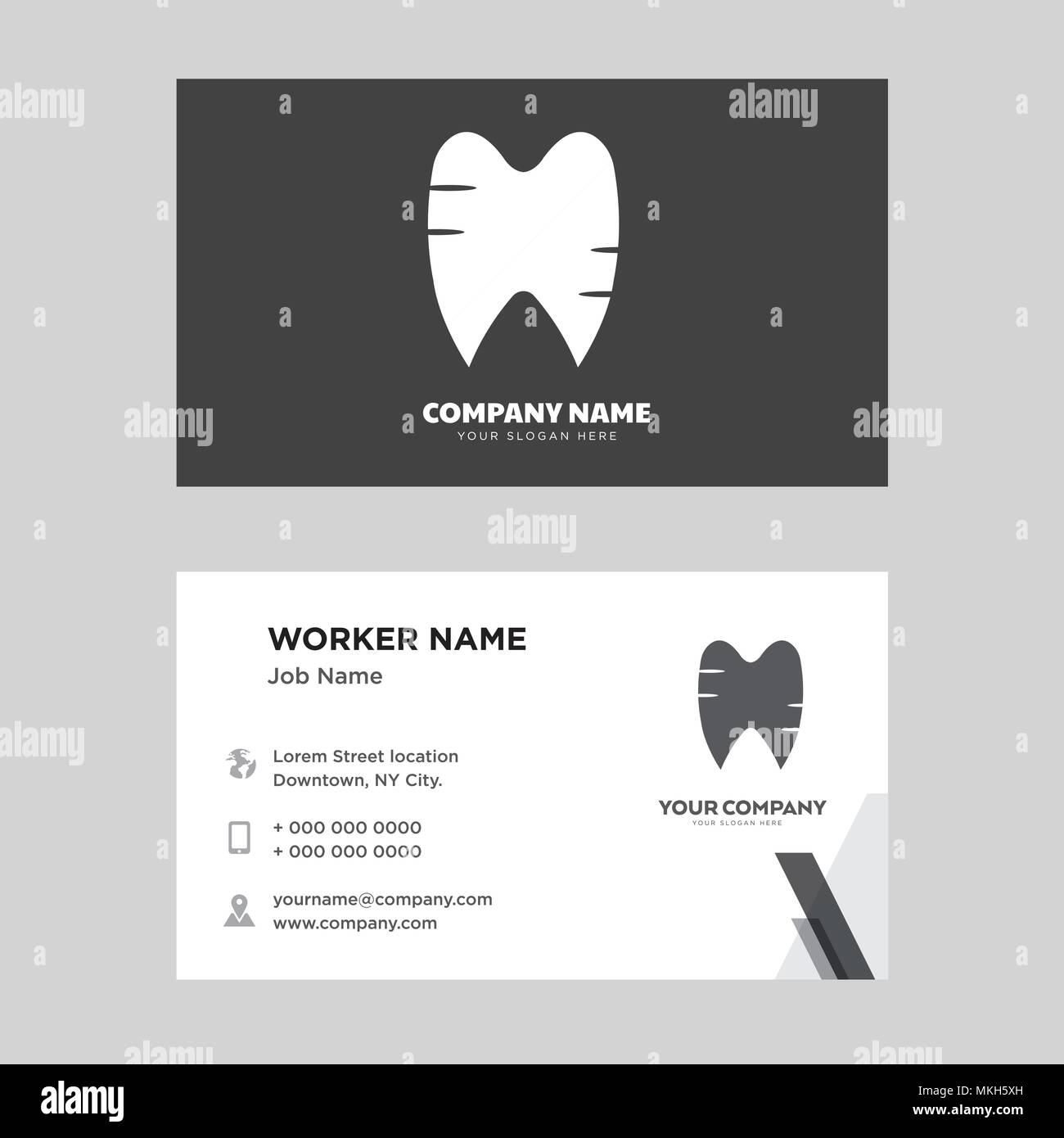 Tooth and gums business card design template visiting for your tooth and gums business card design template visiting for your company modern horizontal identity card vector reheart Image collections