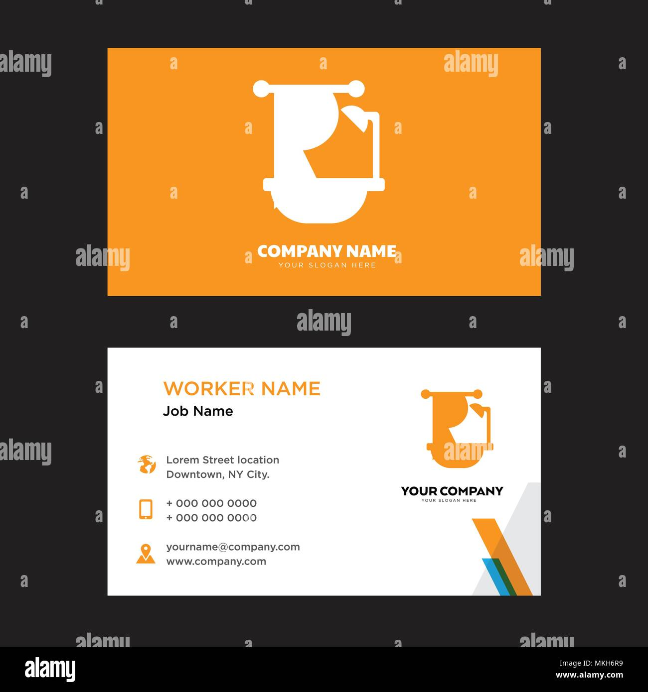 Bathtub business card design template, Visiting for your company ...