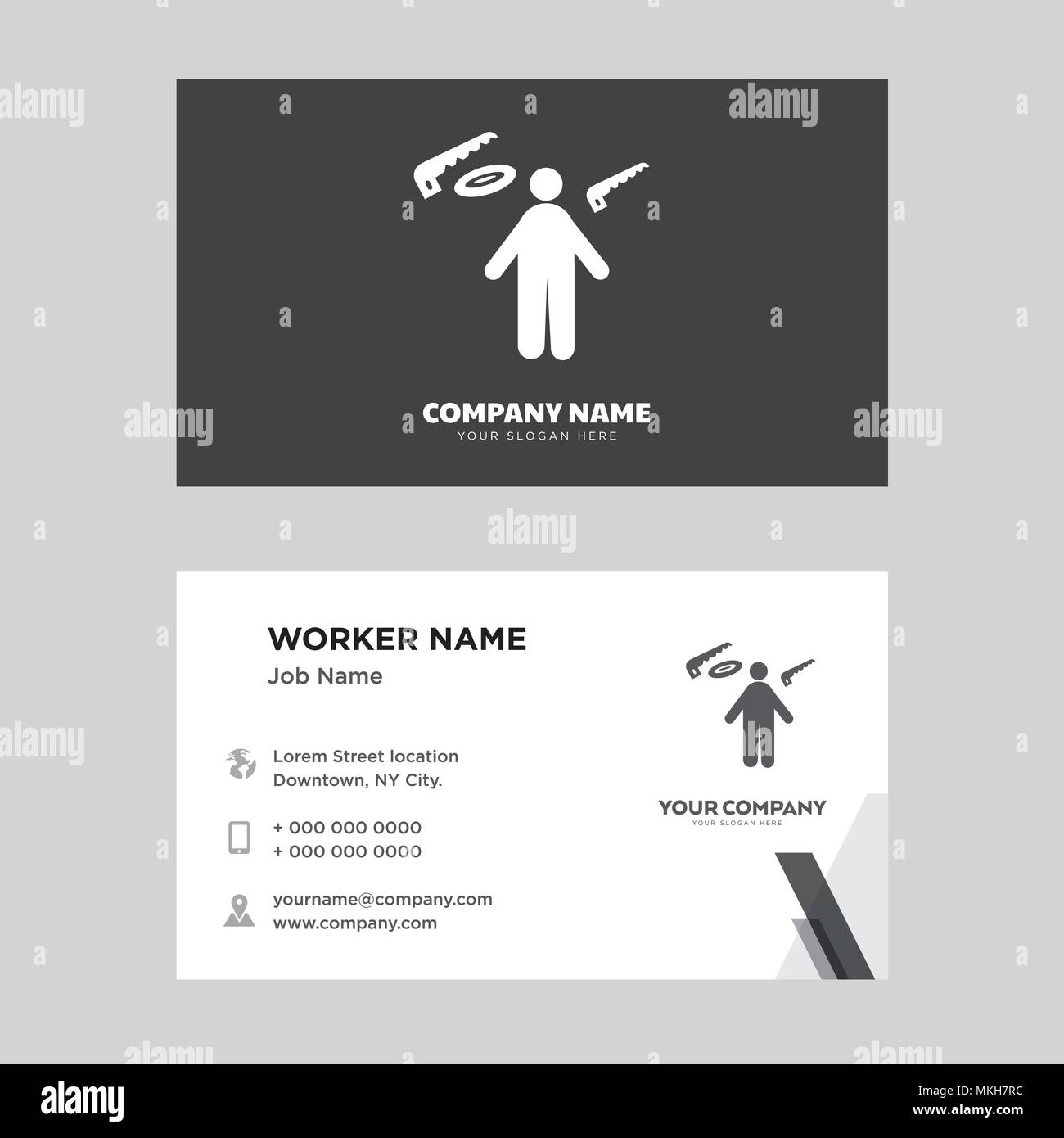 Carpenter business card design template visiting for your company carpenter business card design template visiting for your company modern horizontal identity card vector wajeb Gallery