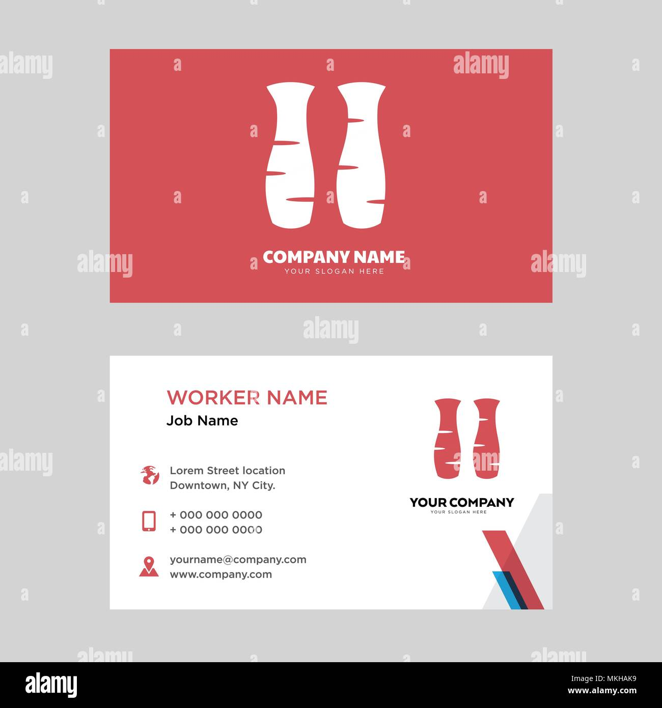Back side of legs business card design template visiting for your back side of legs business card design template visiting for your company modern horizontal identity card vector colourmoves