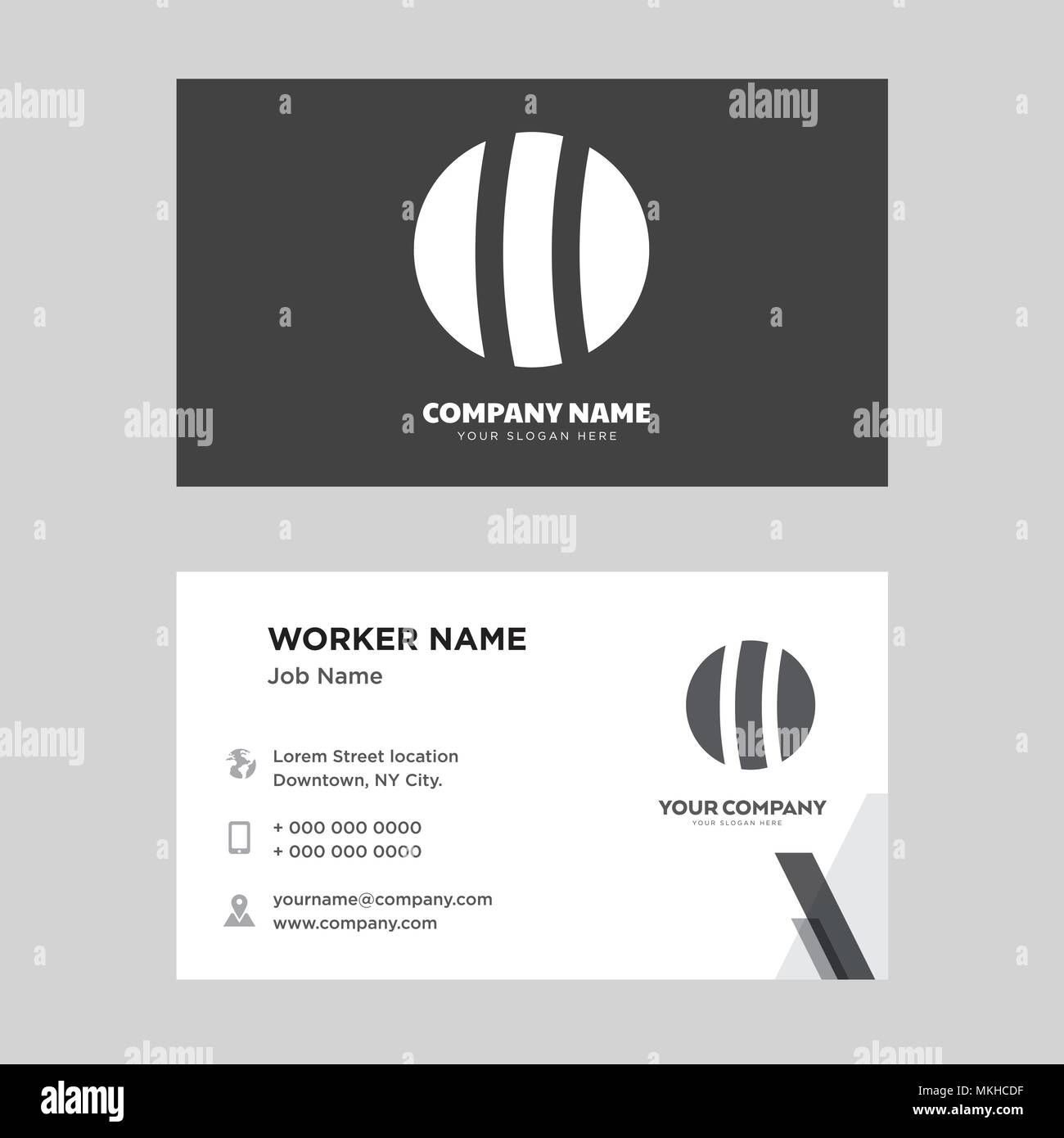 beach ball business card design template visiting for your company