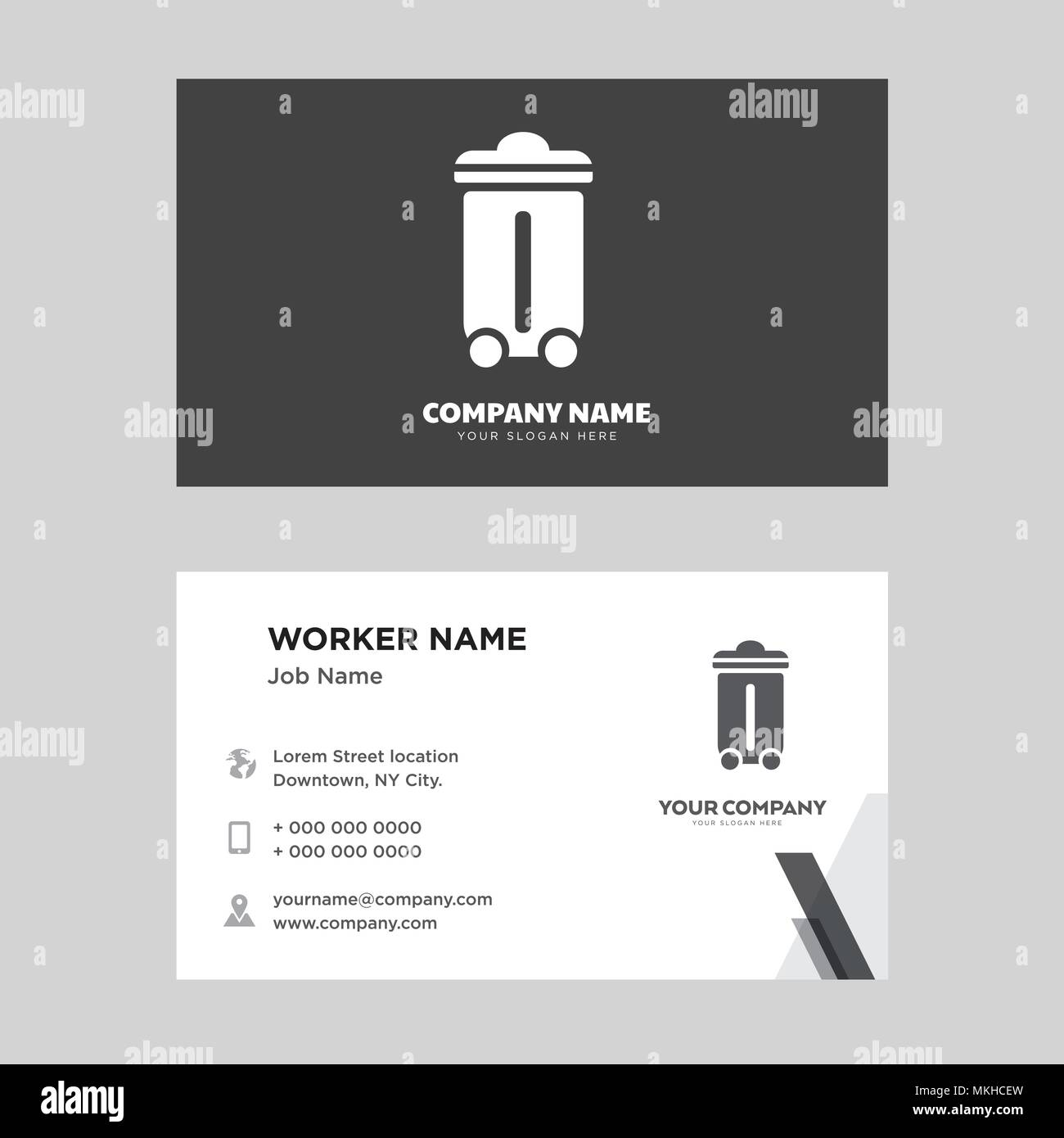 Recycle Bin Business Card Design Template Visiting For Your Company