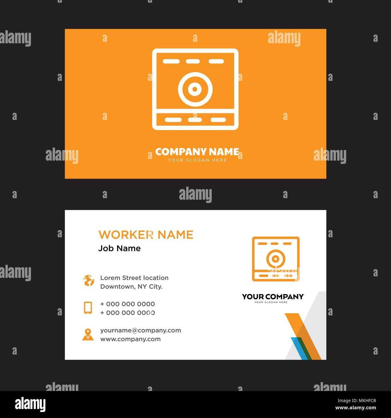 Computer business card design template visiting for your company computer business card design template visiting for your company modern horizontal identity card vector accmission Gallery