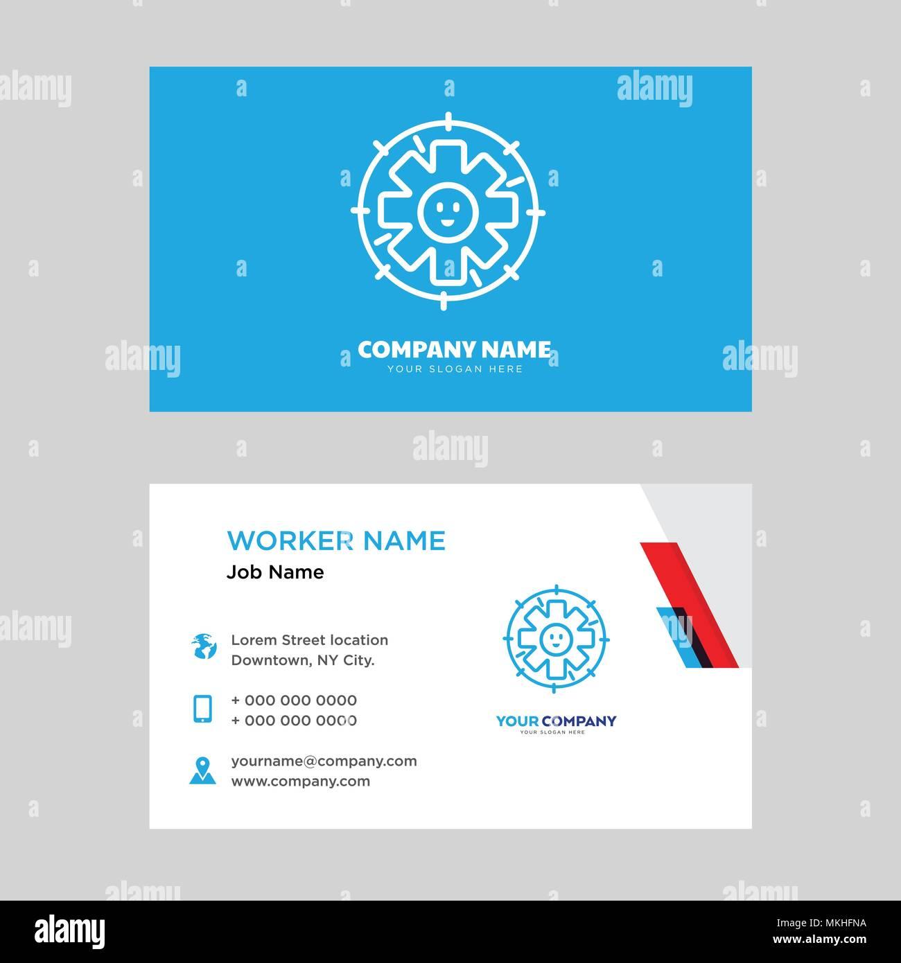 Technical support business card design template visiting for your technical support business card design template visiting for your company modern horizontal identity card vector colourmoves