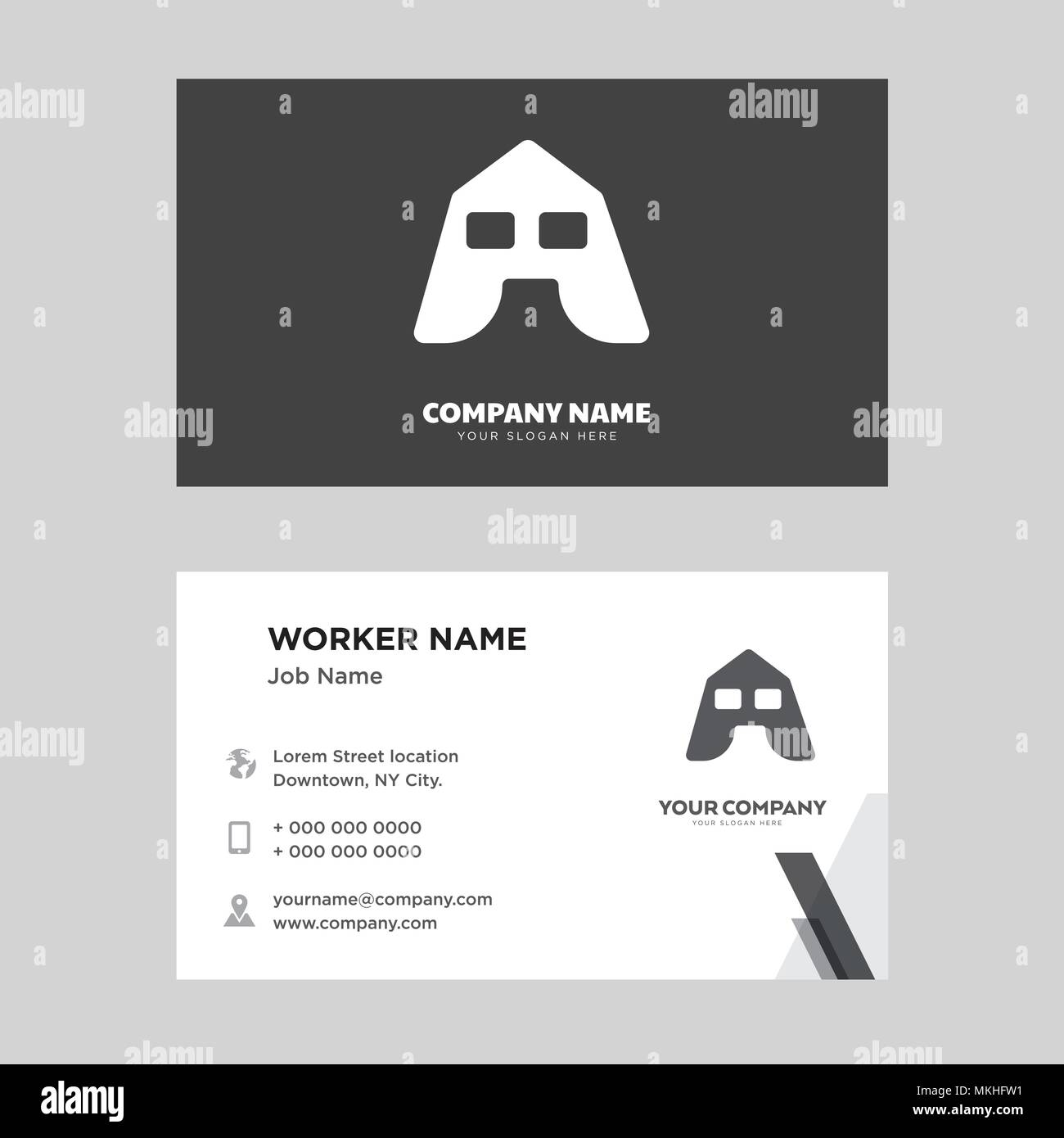Big Tent Business Card Design Template Visiting For Your Company