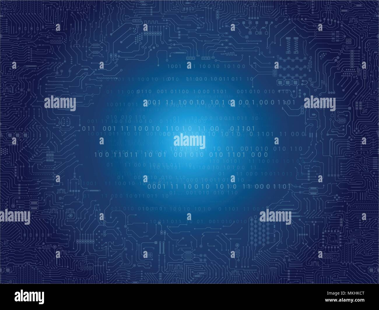 Seamless Circuit Pattern Or Board Background Vector Illustration