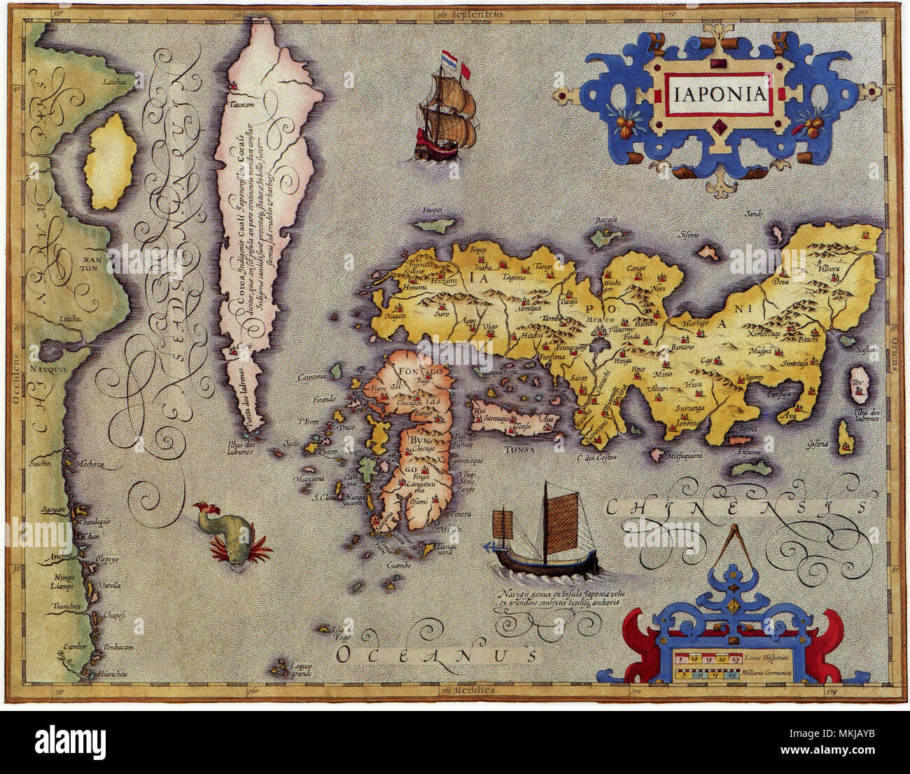 Ancient Map Of Japan.Ancient Map Of Japan 1606 Stock Photo 184185887 Alamy