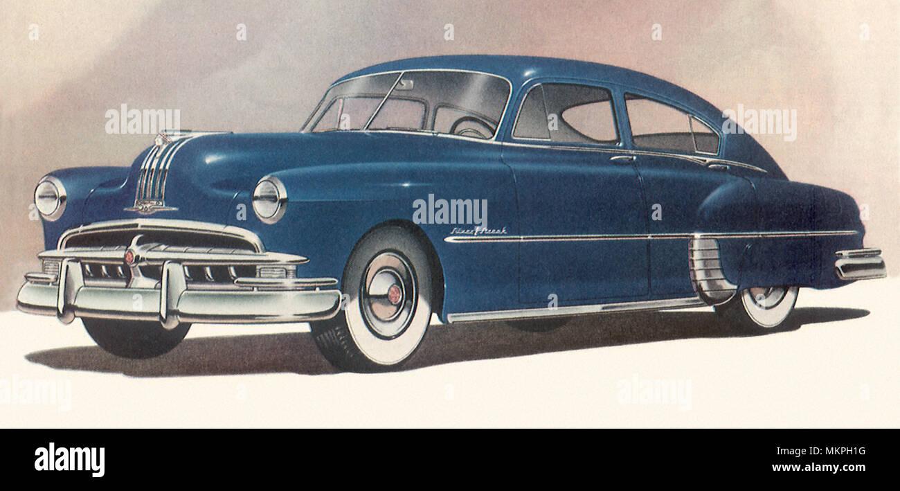 1949 Pontiac Chieftain 1948 Silver Streak Streamliner Stock Photo Alamy 1300x709