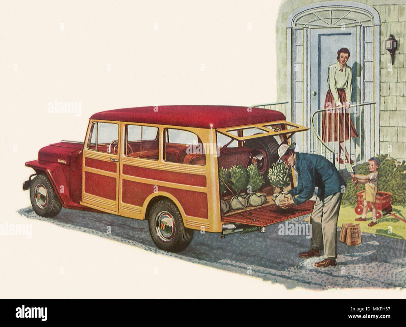1949 Willys Overland Jeep Station Wagon Stock Photo 184278563 Alamy 1950