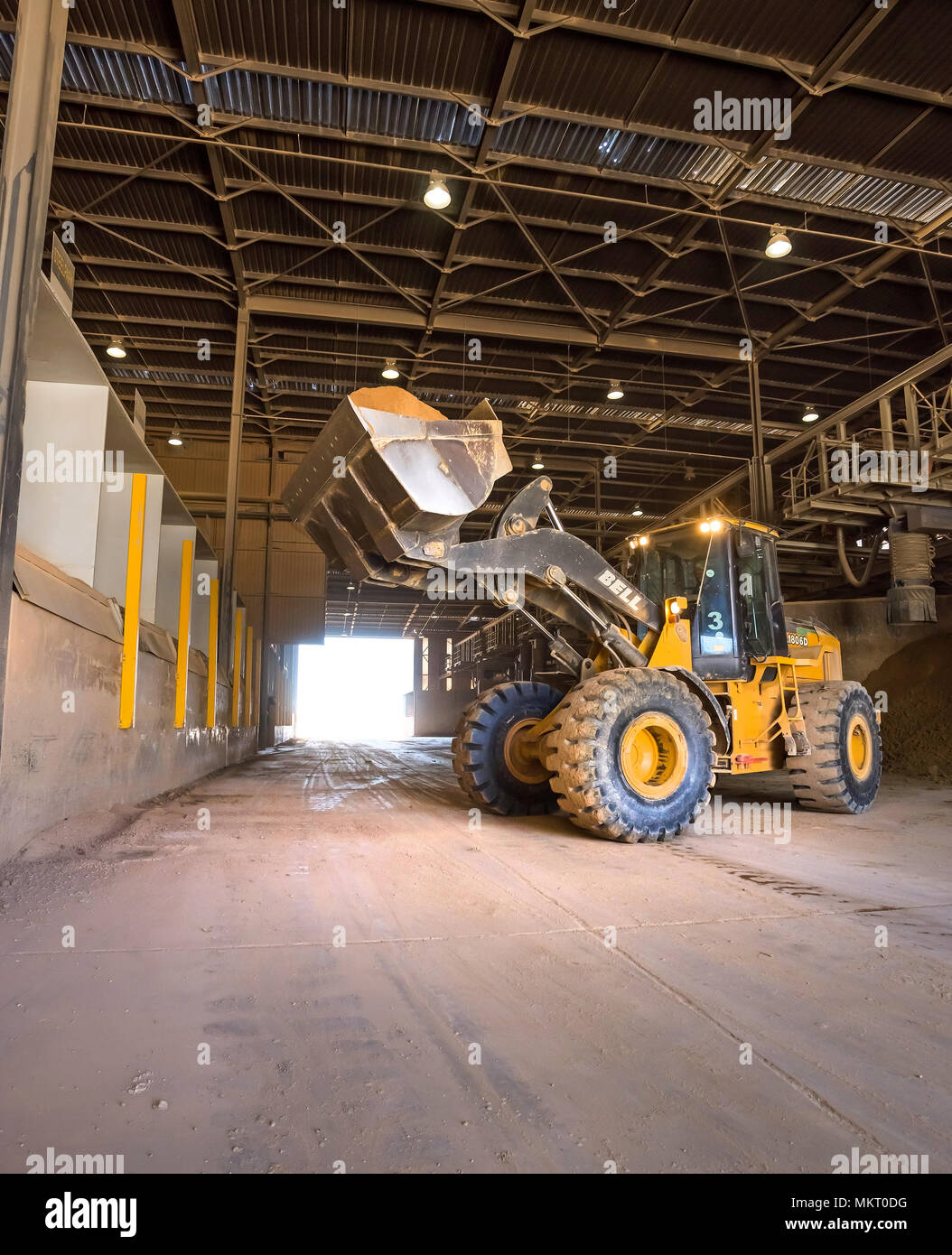 Cape Town, South Africa, June 29 - 2018: Digger truck loading clay ...