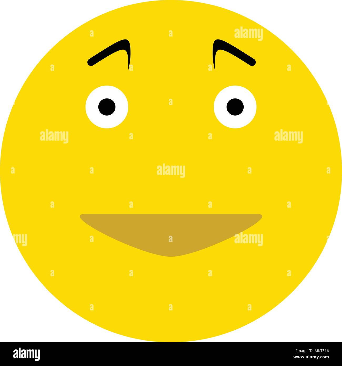 Happy Smiley Face Emoticon Icon Isolated On White Background Stock