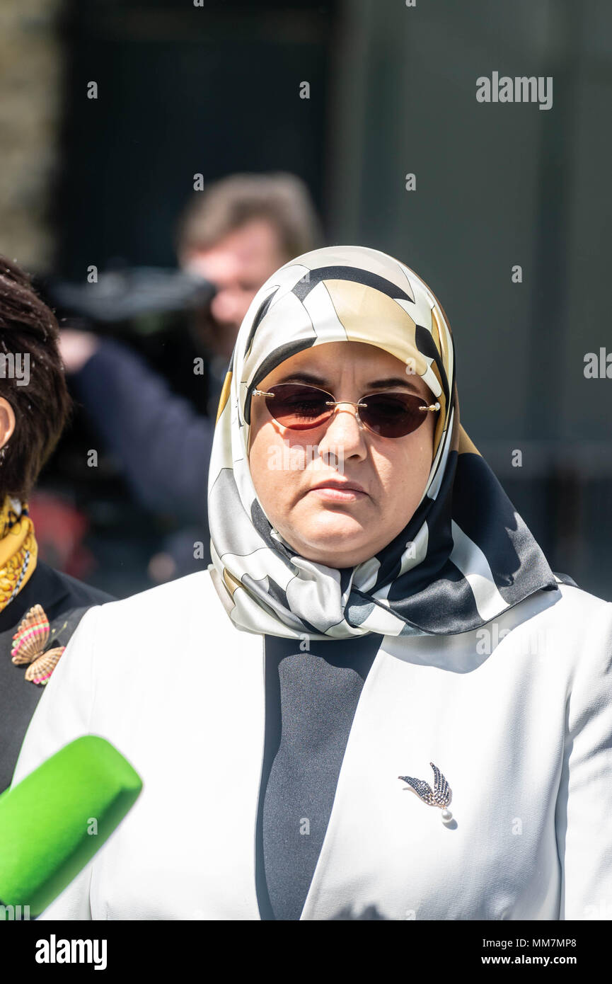 London, 10th May 2018 Fatima  Boudchar (pictured) wins torture case compensation from the UK Government following her torture in Libya Credit Ian Davidson/Alamy Live News Stock Photo