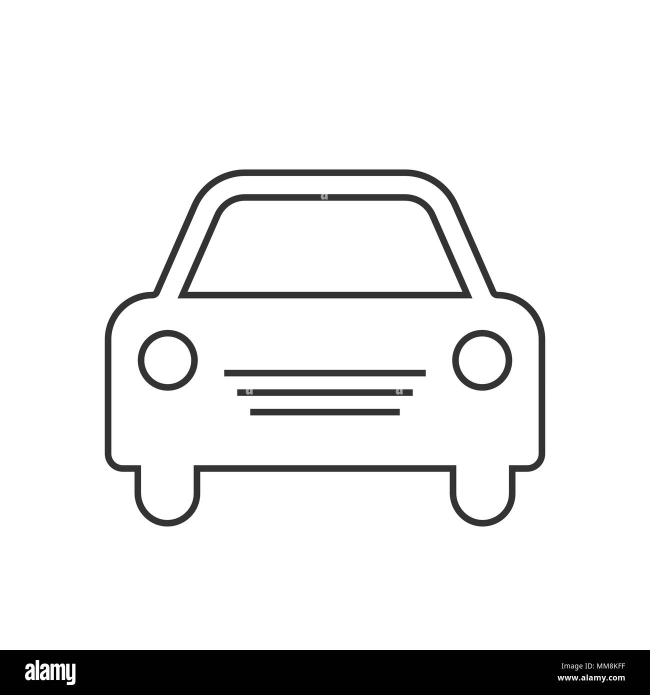 Car Vector Icon Simple Front Car Logo Illustration Eps 10 Stock