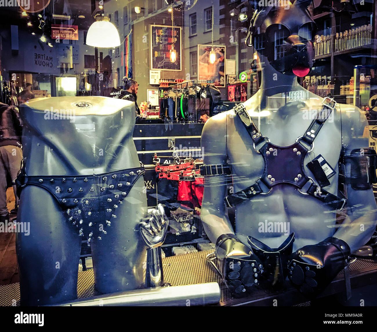 GoTonysmith,@HotpixUK,studded,homo,erotic,homo-erotic,homoerotic,Front shop window,of,Soho,leather,fetish retail,retail,buy,fetish retailer,England,UK,sex,sexy,perversion,leather perversion,city,city centre,erotic fashion,fashion,S&M,Bondage,Discipline,Submission,Sado/Masochism,Old Compton st,Old Compton street,leather culture,biker leathers,mask,leather mask,boutique,store,London shop,shopping