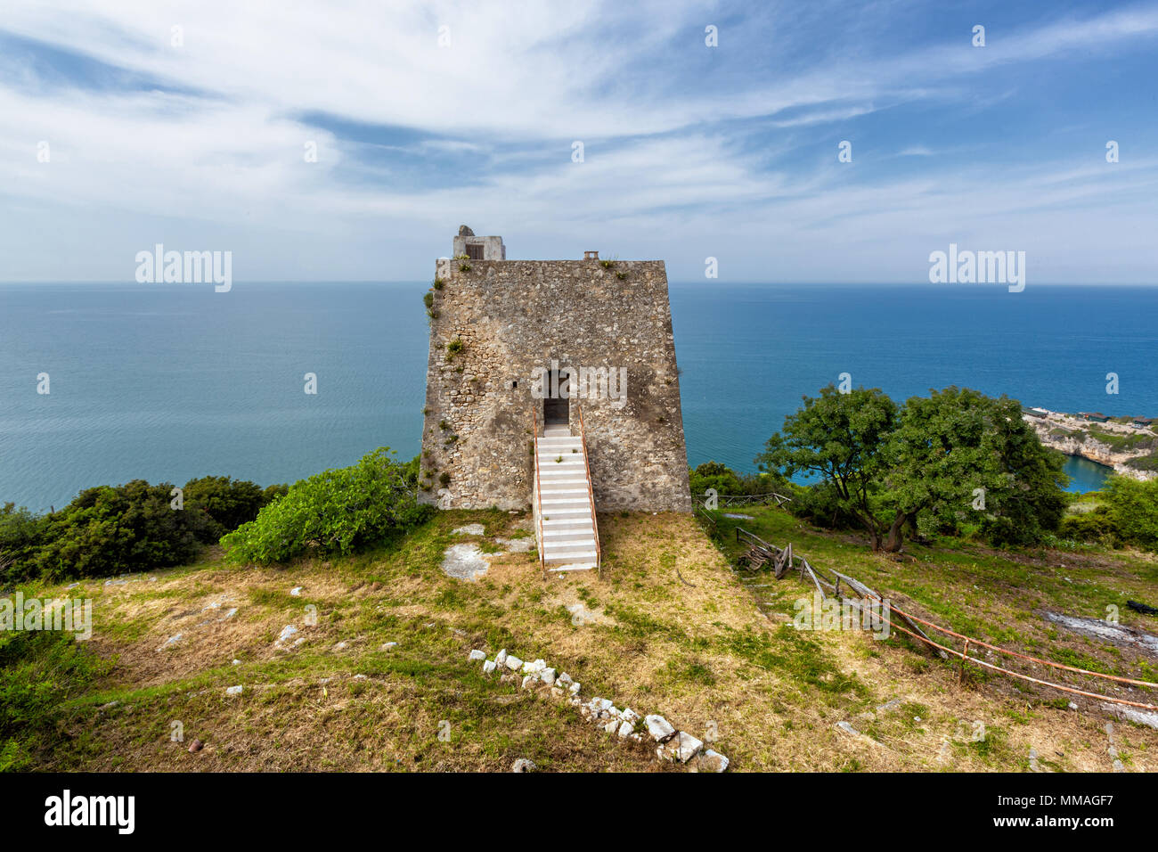 Gargano (Puglia, Italy) - View of the Monte Pucci tower - Stock Image