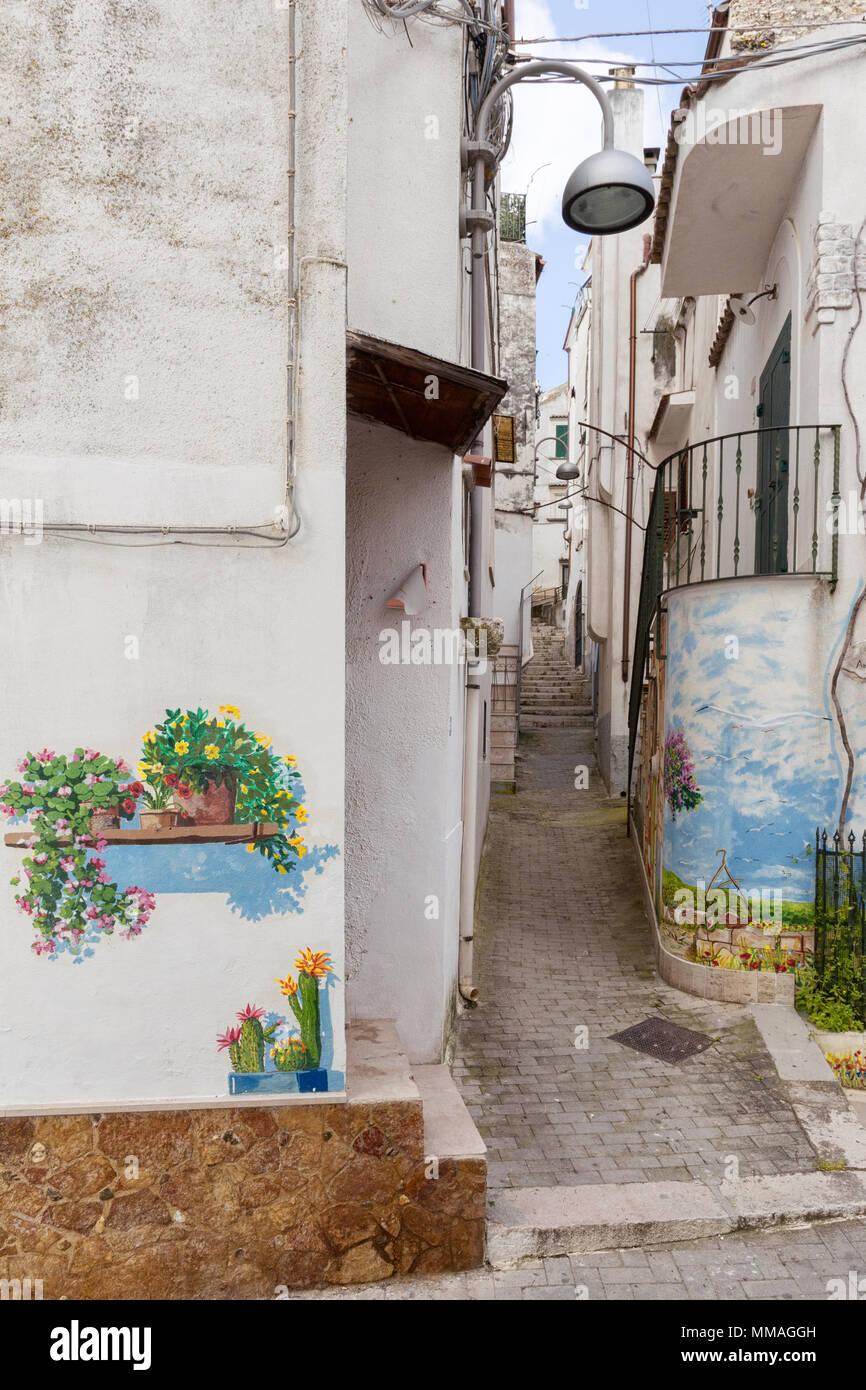 RODI GARGANICO, ITALY - APRIL 30, 2018 - Rodi Garganico is a little picturesque village in Puglia, south Italy. - Stock Image