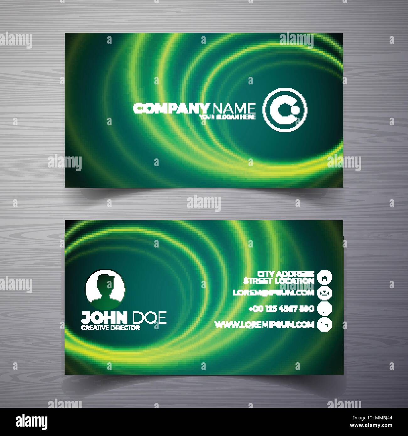 Vector Modern Business Card Design Template With Abstract Backgound