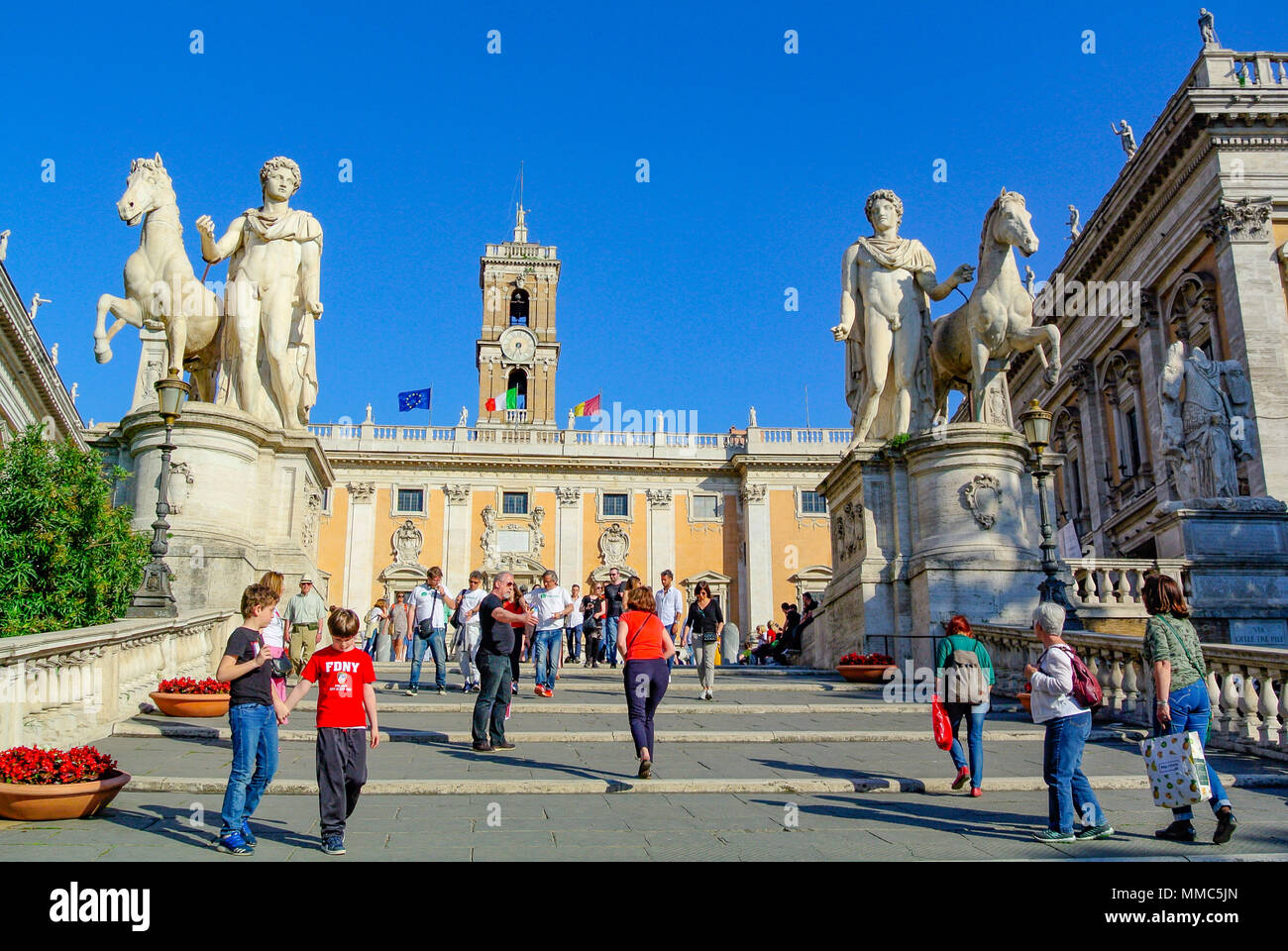 palazzo senatorio, rome, italy Stock Photo