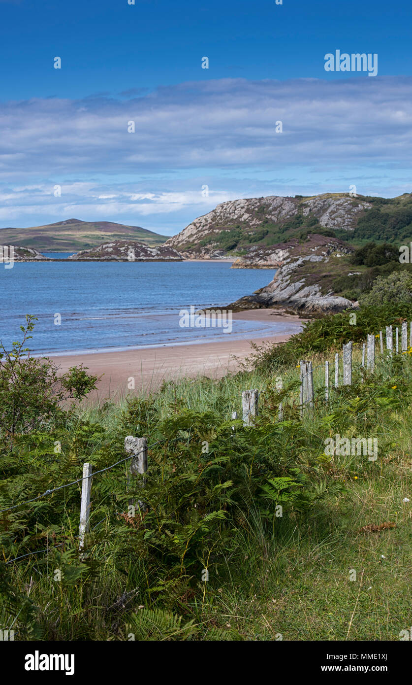 Wester Ross landscape in Scotland, UK, along the route of the North Coast 500 scenic road - Stock Image